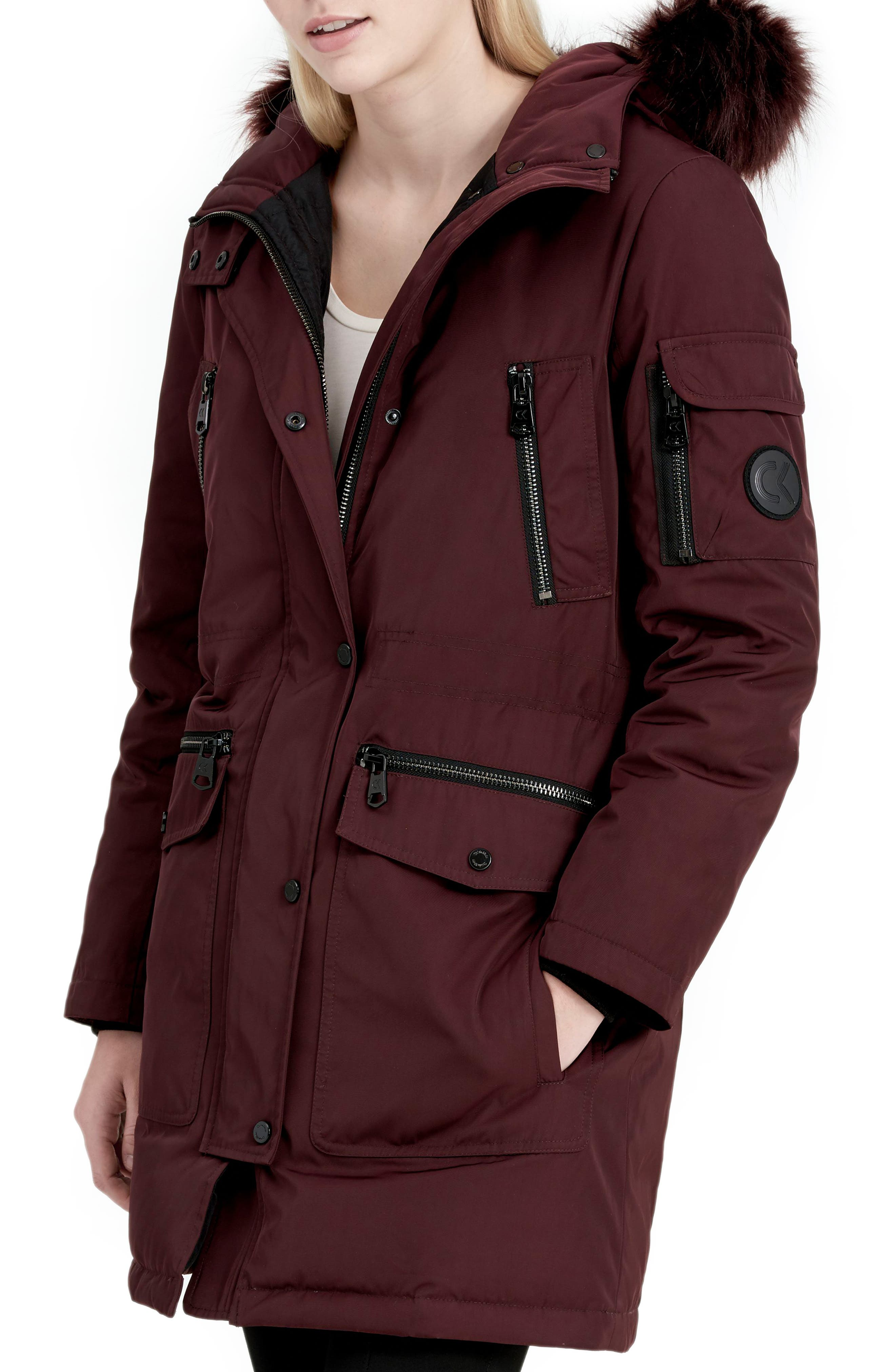 Expedition Hooded Down Parka with Faux Fur Trim,                             Alternate thumbnail 7, color,