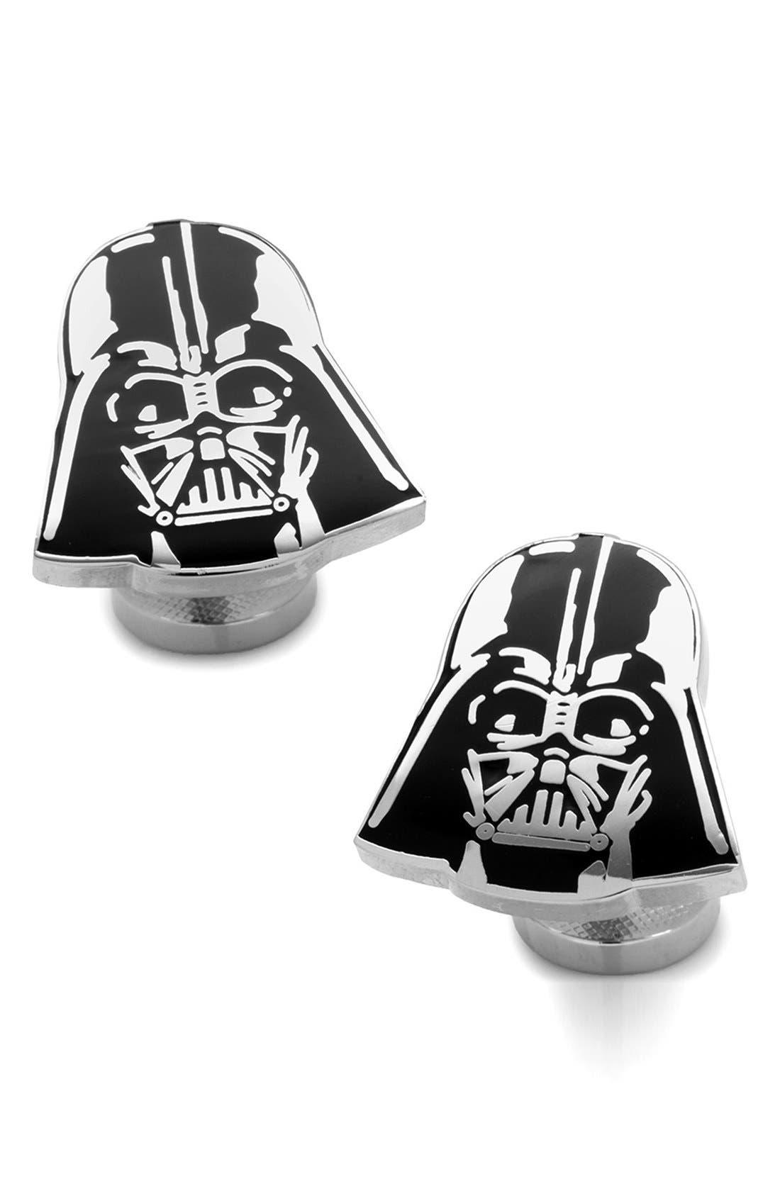 'Star Wars<sup>™</sup> - Darth Vader' Cuff Links,                             Main thumbnail 1, color,                             BLACK/ SILVER