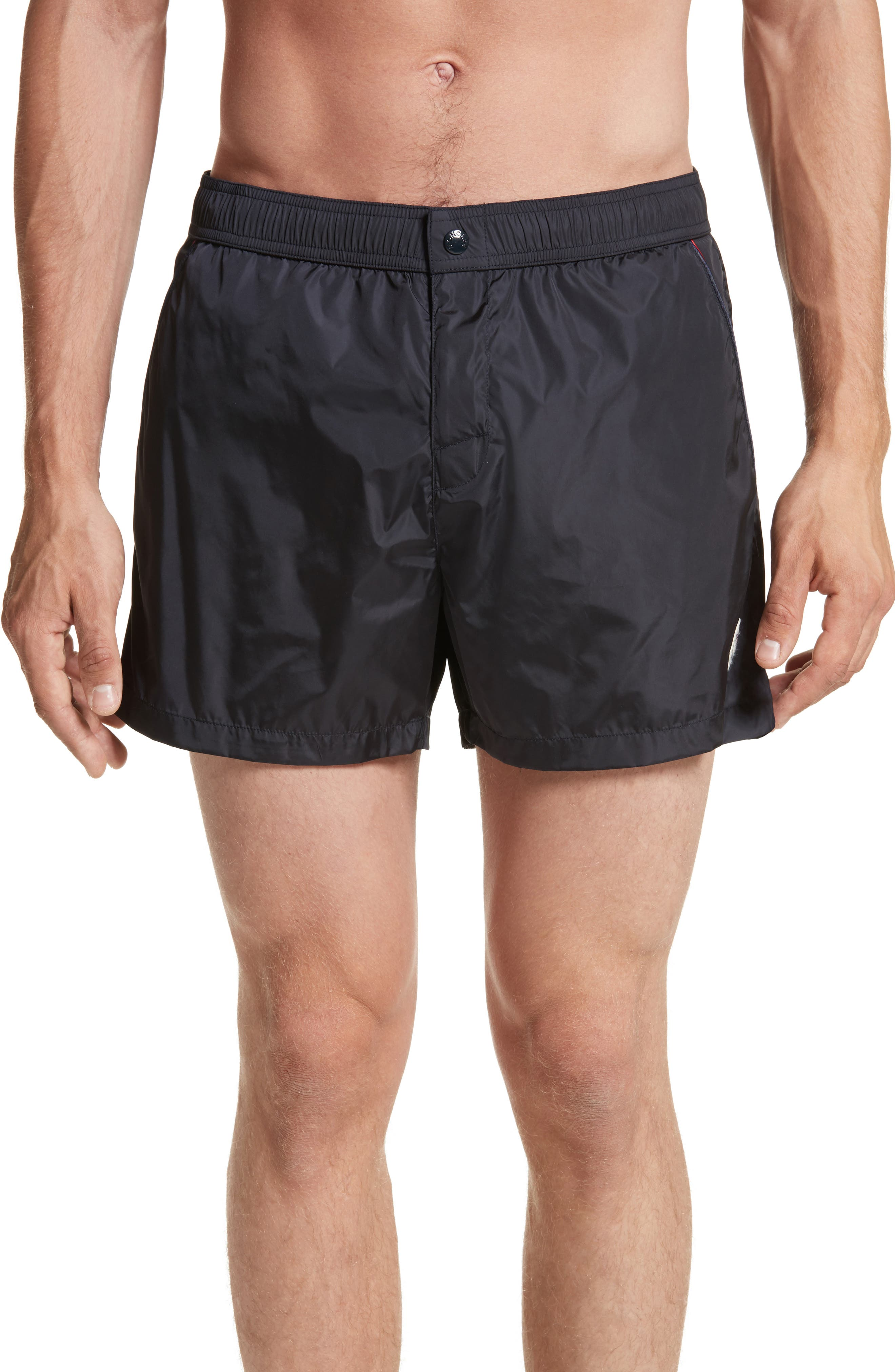 Pipe Swim Trunks,                         Main,                         color, NAVY