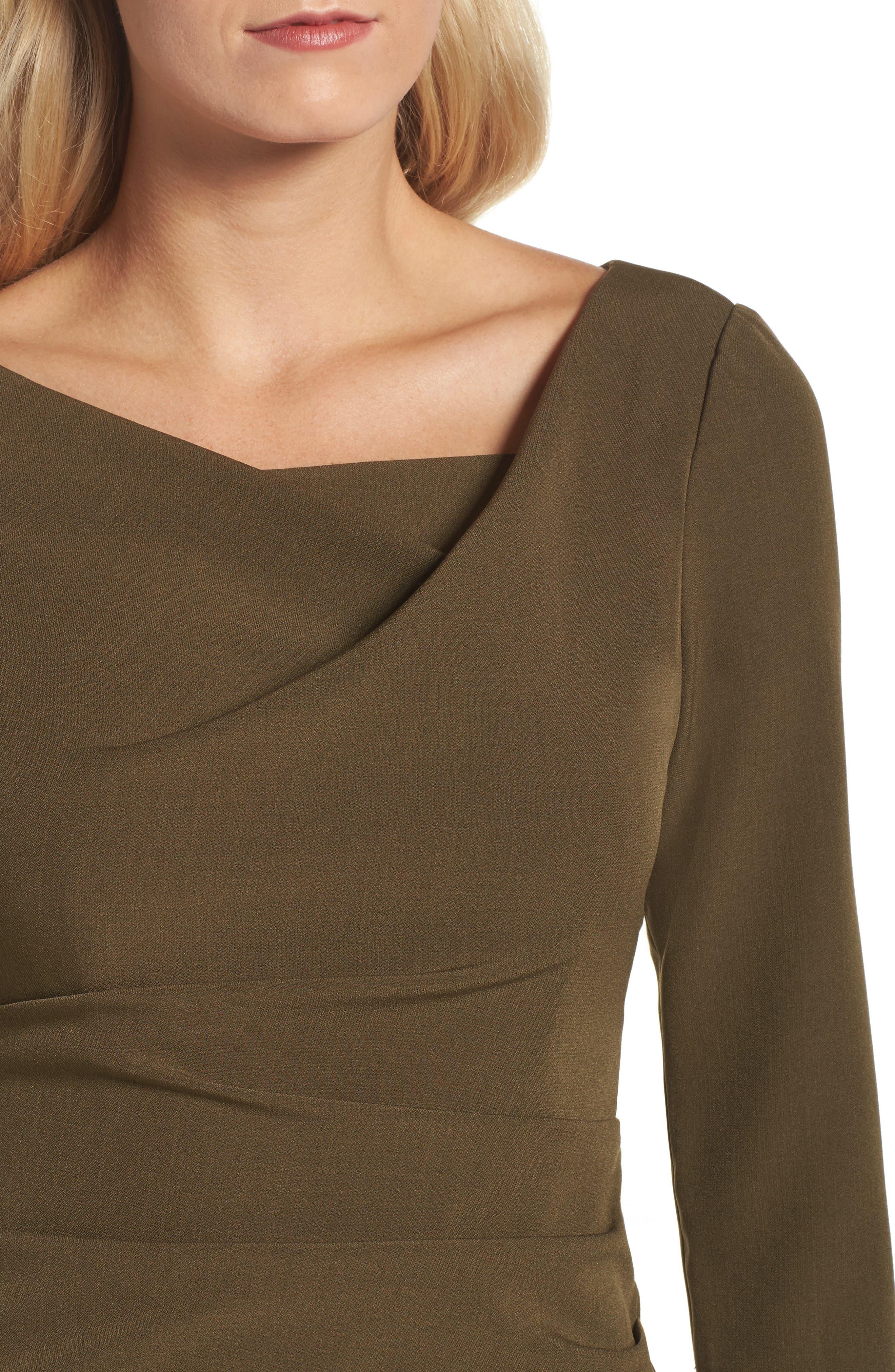 Drape Neck Midi Dress,                             Alternate thumbnail 4, color,                             371