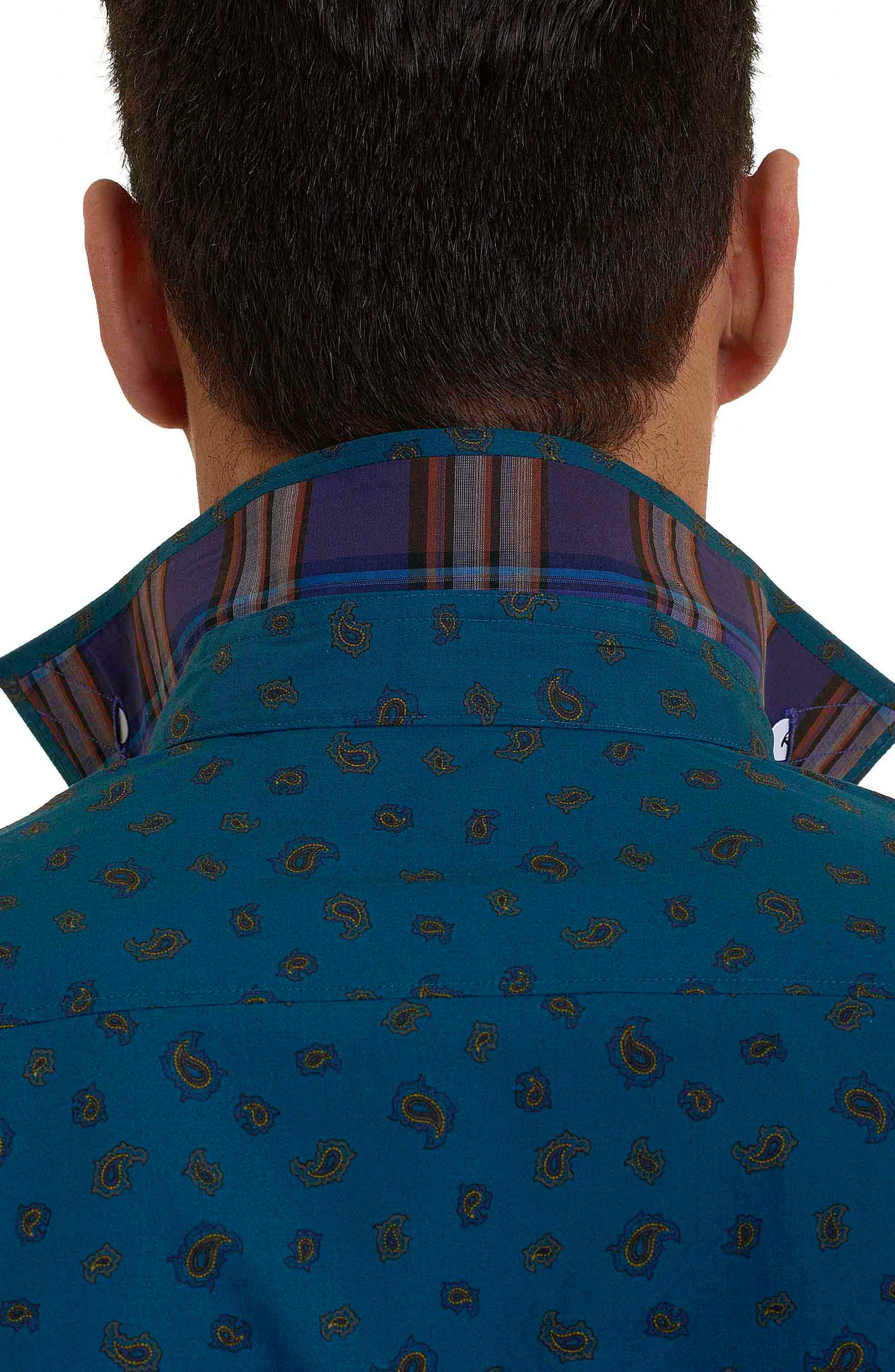 Cold Spring Classic Fit Paisley Sport Shirt,                             Alternate thumbnail 5, color,                             463