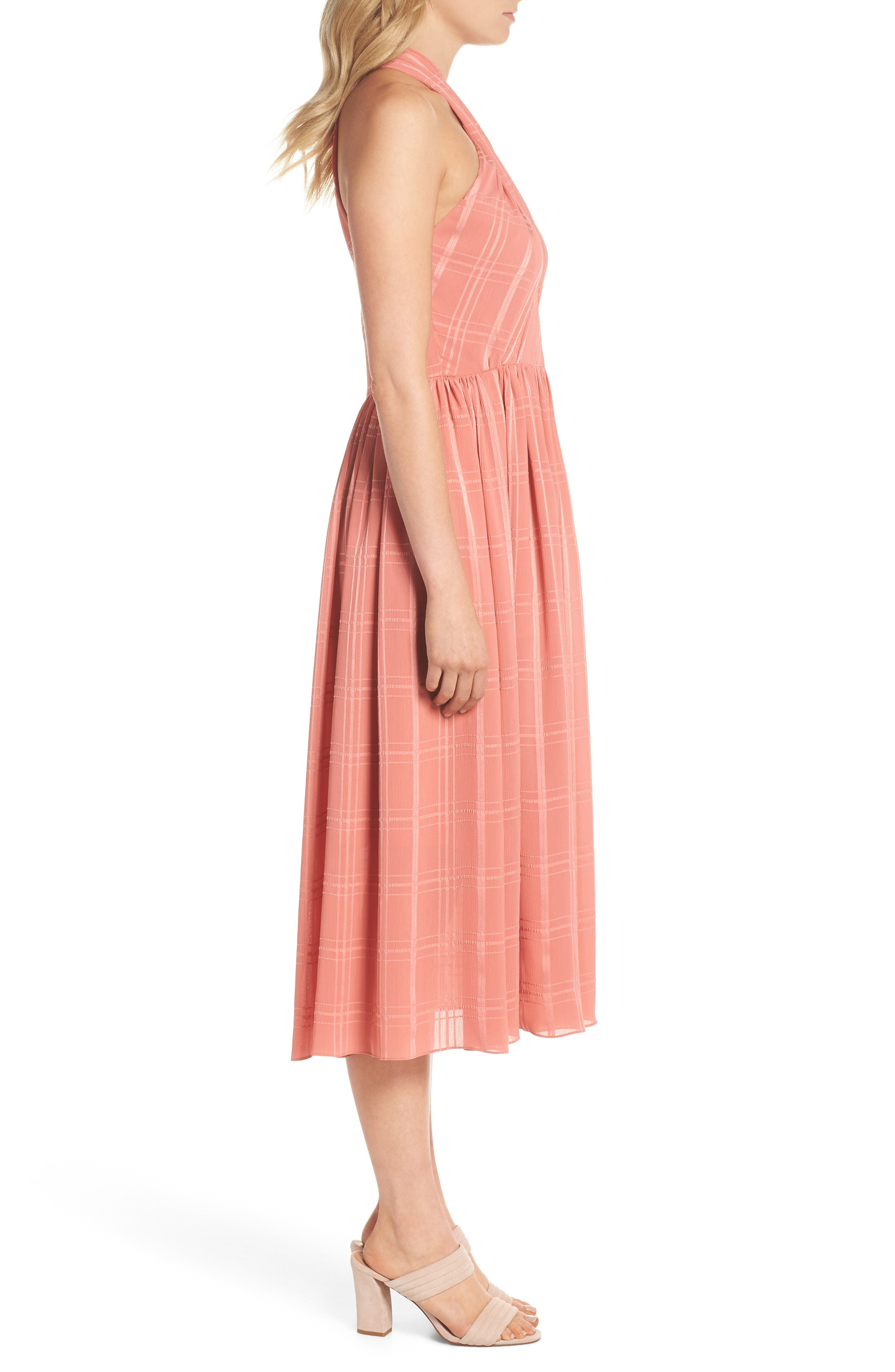 Mia Twist Chiffon Midi Dress,                             Alternate thumbnail 3, color,                             681