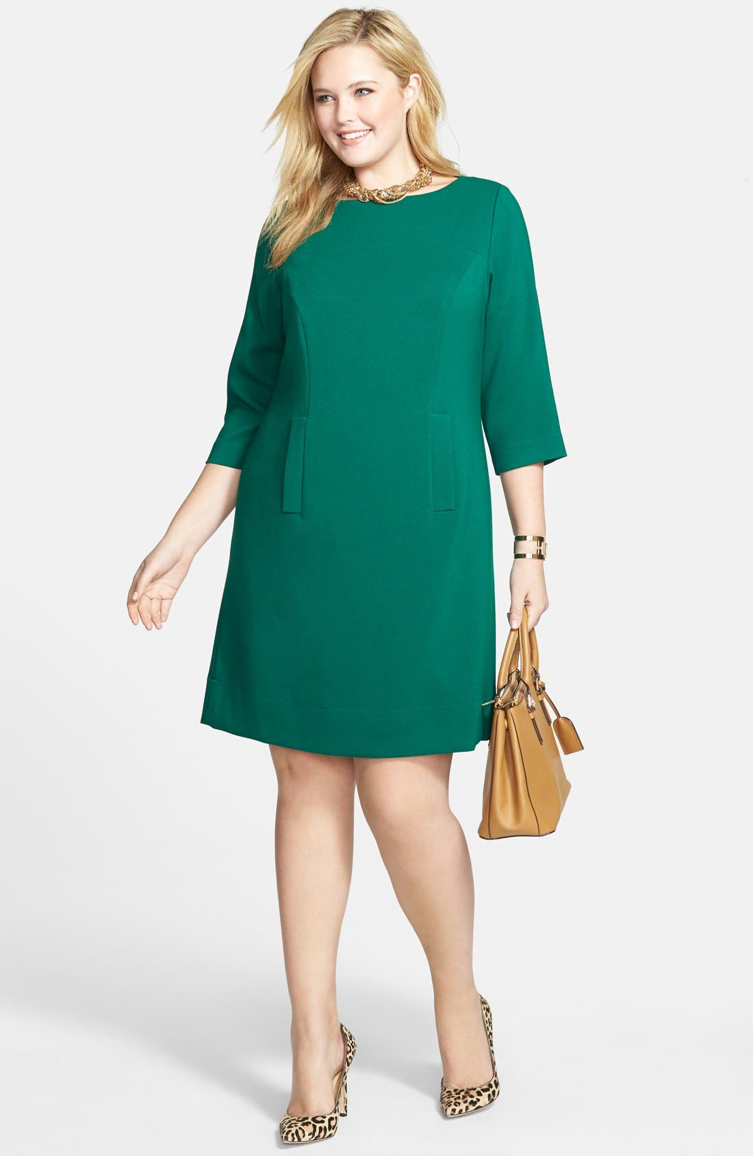 Pocket Detail Shift Dress,                             Alternate thumbnail 7, color,