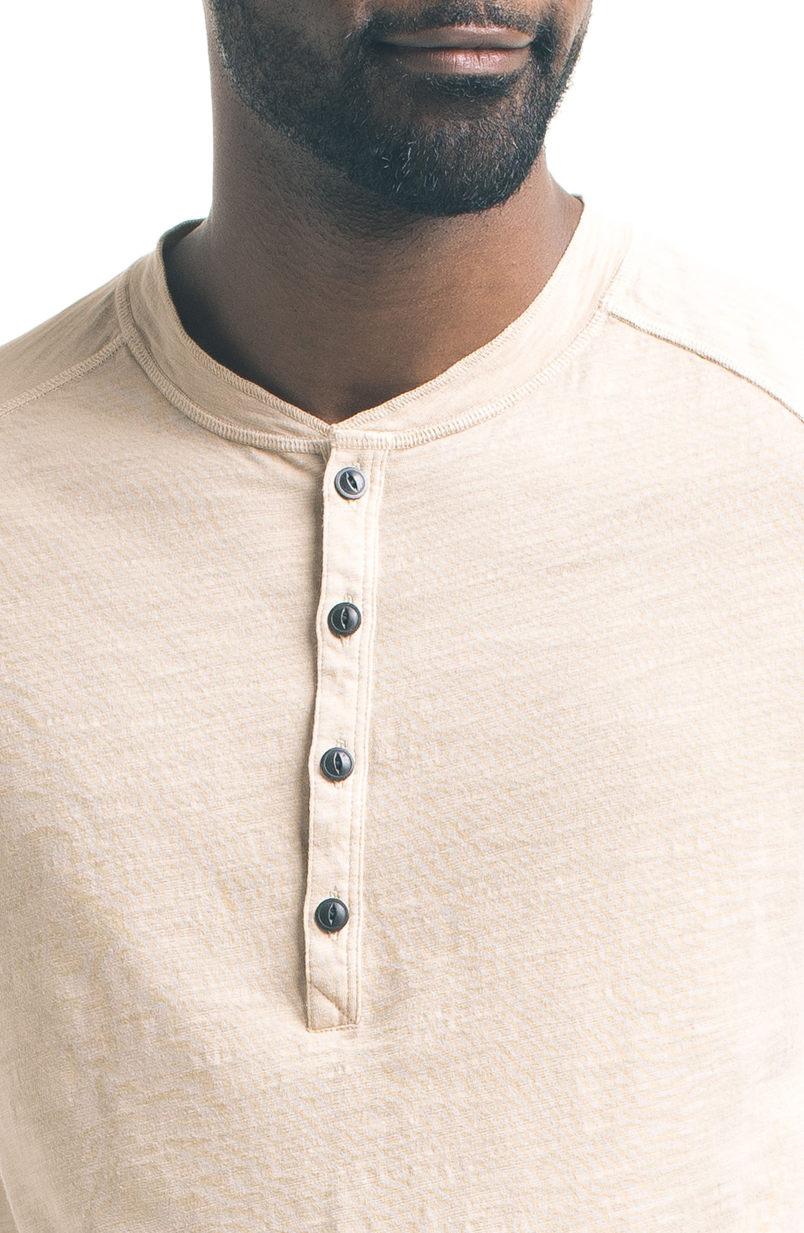 Short Sleeve Slub Henley,                             Alternate thumbnail 21, color,