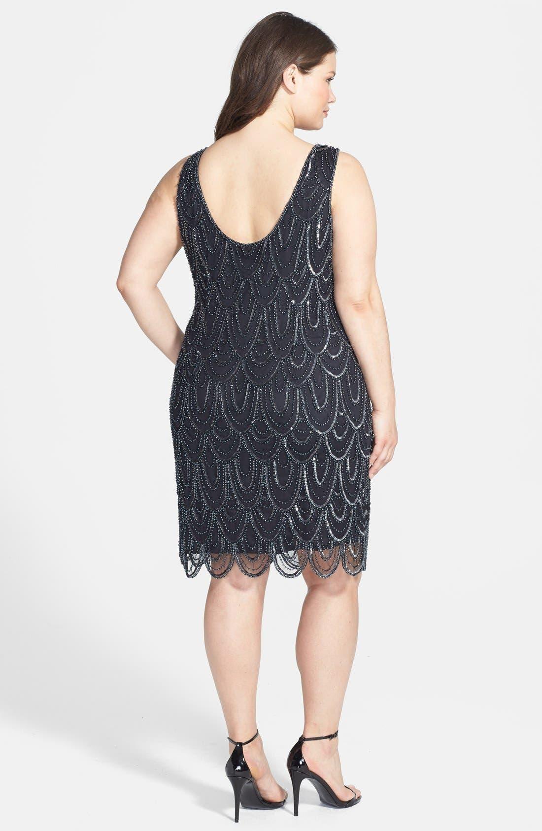Beaded Sheath Dress,                             Alternate thumbnail 49, color,