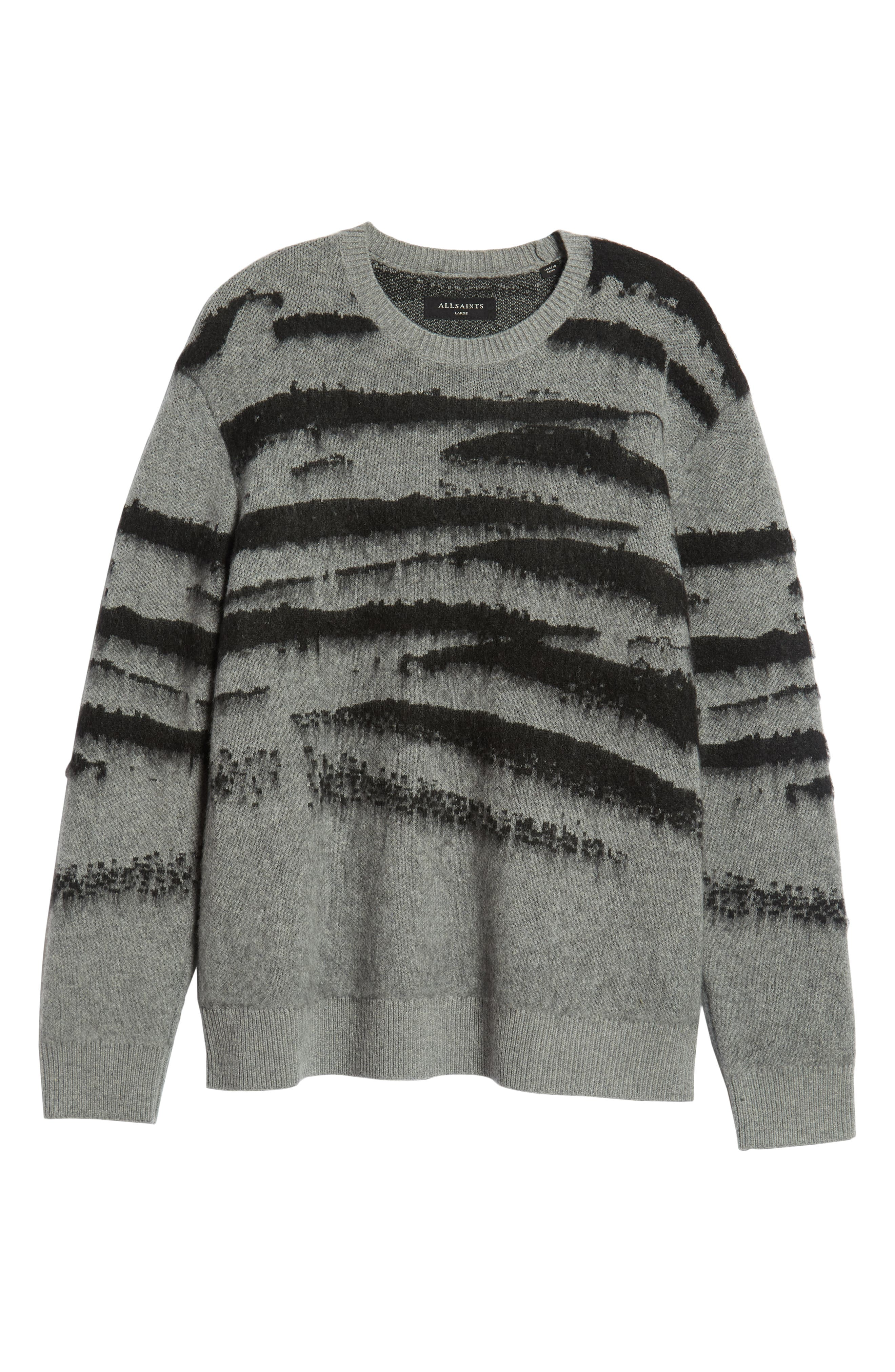 Ture Regular Fit Sweater,                             Alternate thumbnail 6, color,                             GREY/ CINDER