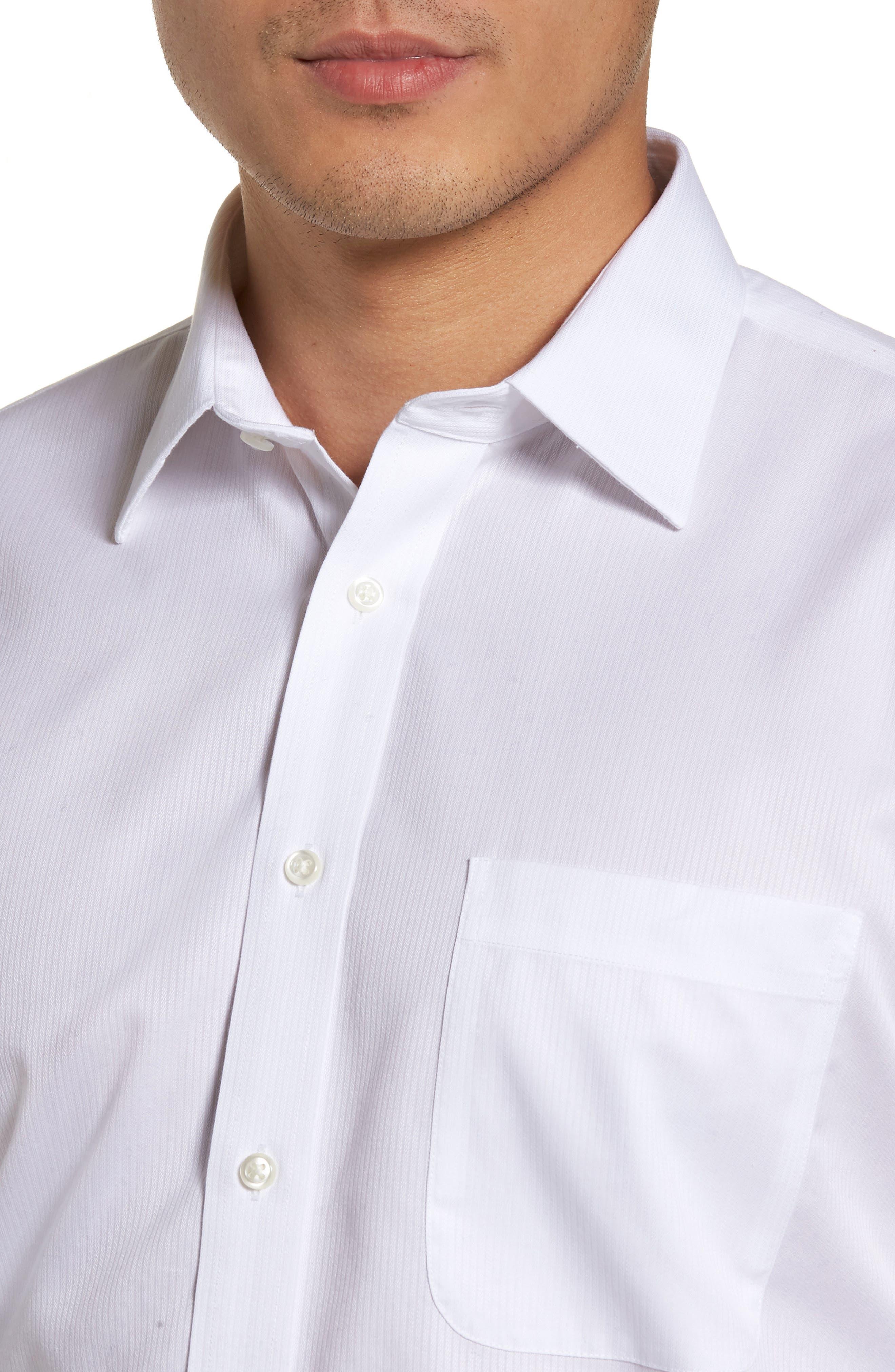 Smartcare<sup>™</sup> Trim Fit Dress Shirt,                             Alternate thumbnail 2, color,                             WHITE
