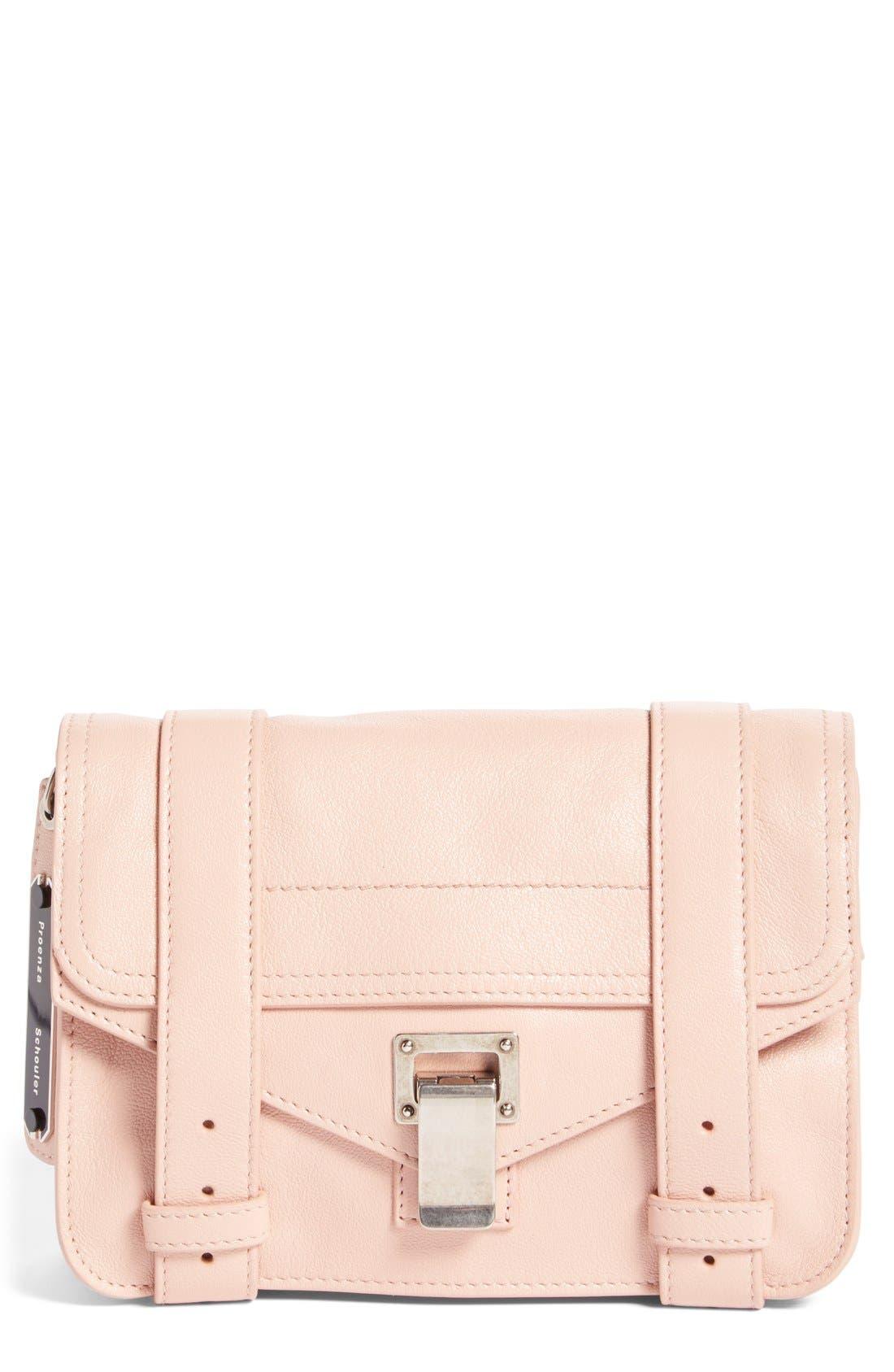 'Mini PS1' Lambskin Leather Crossbody Bag,                             Main thumbnail 1, color,