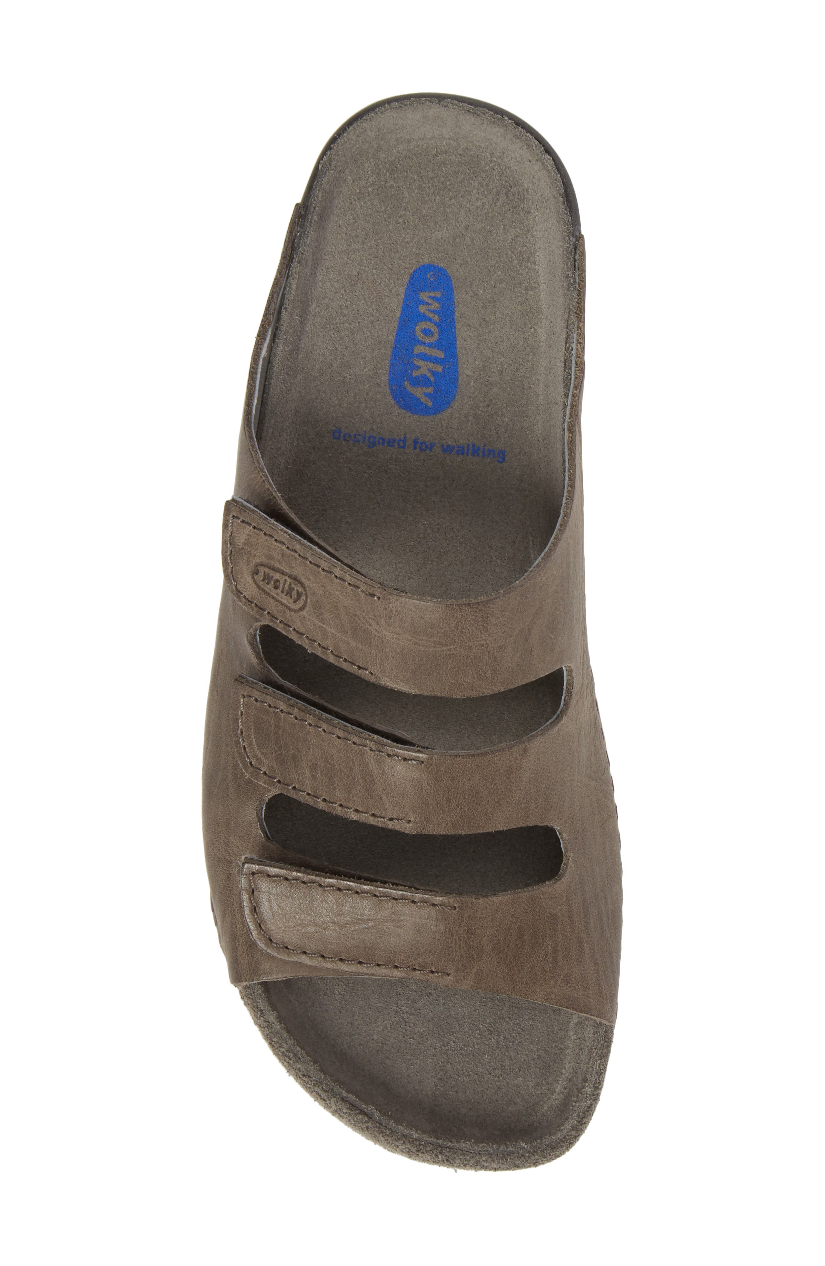 Nomad Slide Sandal,                             Alternate thumbnail 5, color,                             SLATE LEATHER