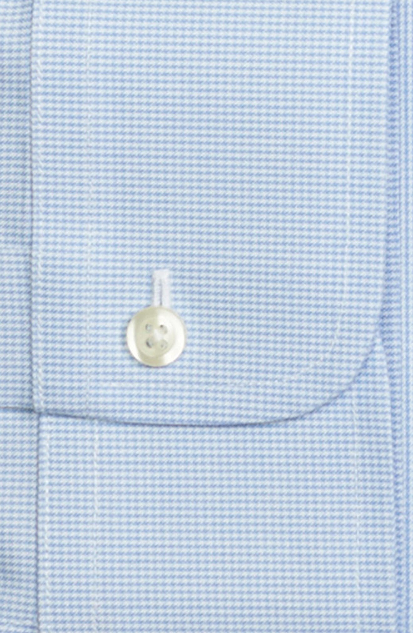 Regular Fit Houndstooth Dress Shirt,                             Alternate thumbnail 2, color,                             LIGHT/ PASTEL BLUE