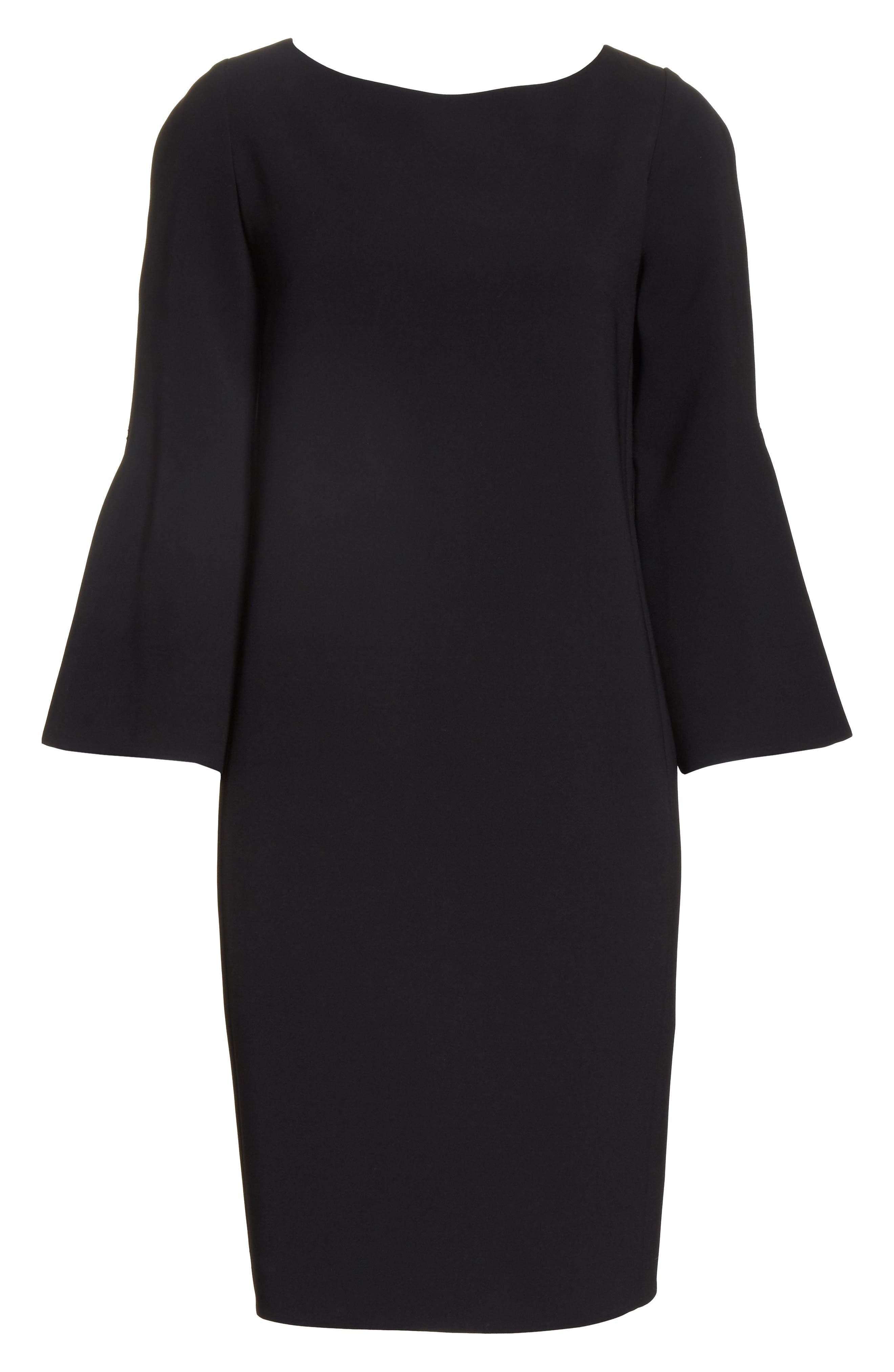 LAFAYETTE 148 NEW YORK,                             Candace Finesse Crepe Shift Dress,                             Alternate thumbnail 7, color,                             001