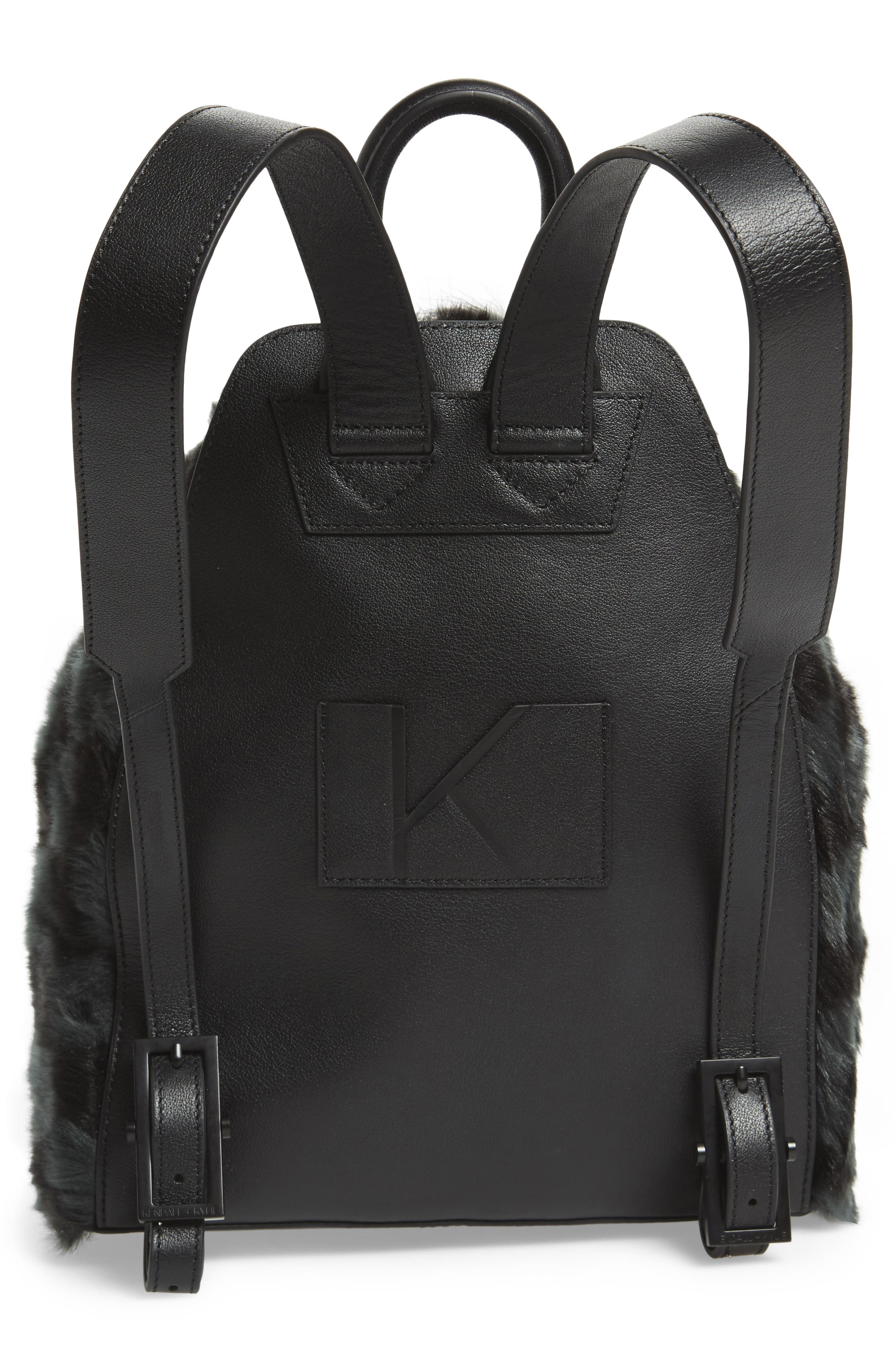 Koenji Faux Fur Backpack,                             Alternate thumbnail 3, color,                             004