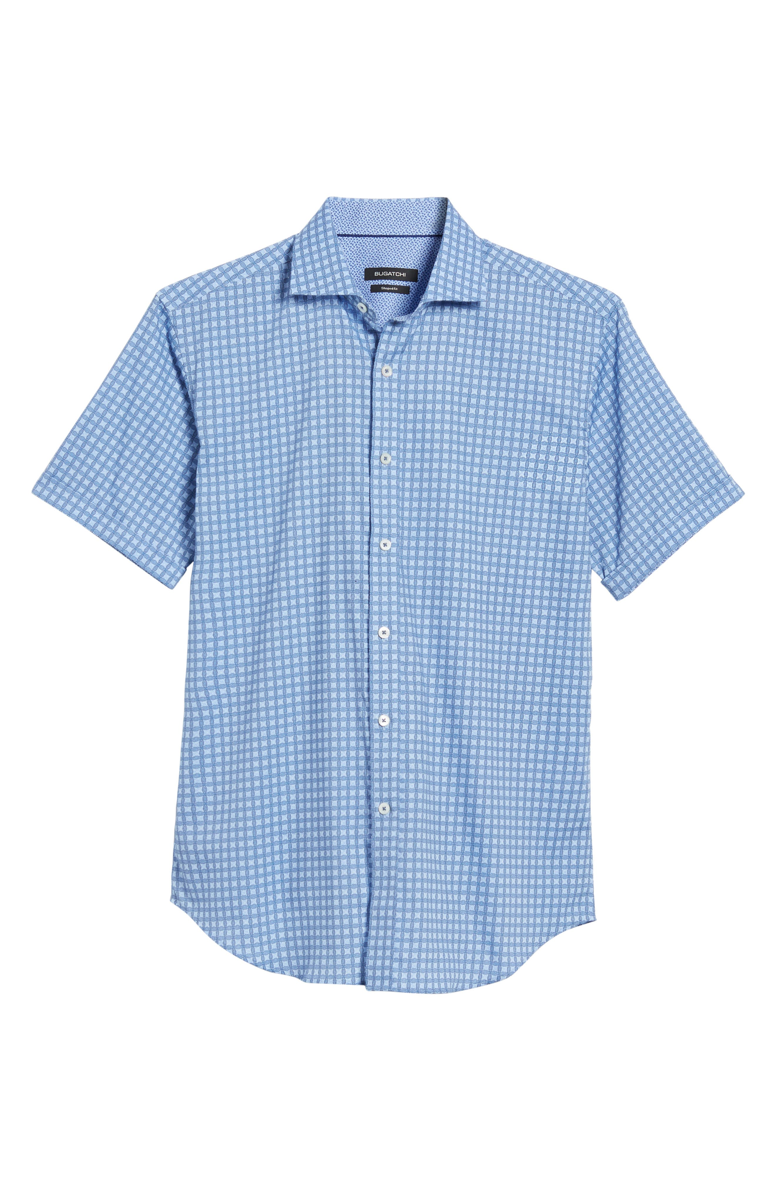 Shaped Fit Print Sport Shirt,                             Alternate thumbnail 6, color,                             459