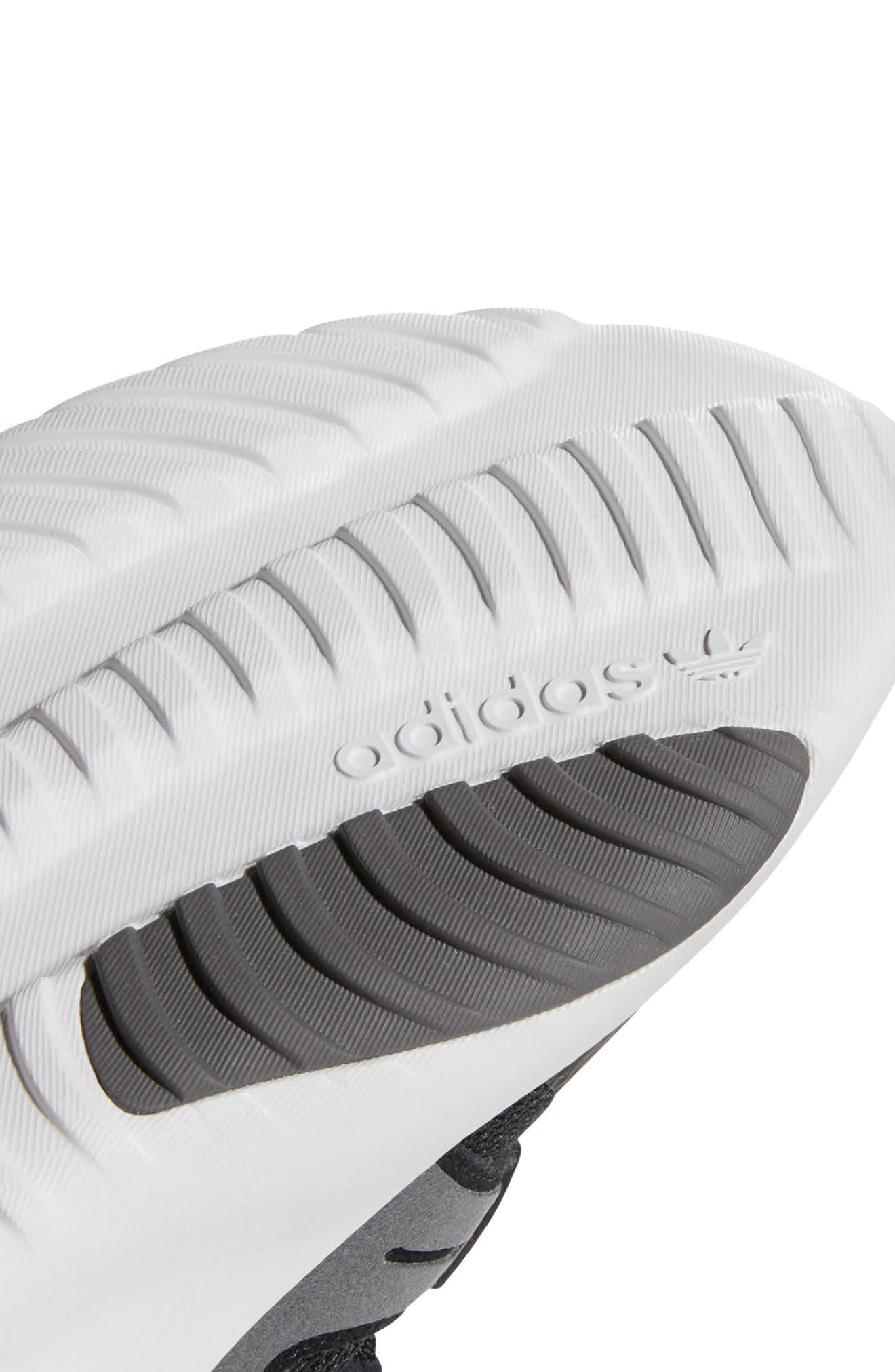 Tubular Dusk Primeknit Sneaker,                             Alternate thumbnail 9, color,                             WHITE/ BLACK/ GREY