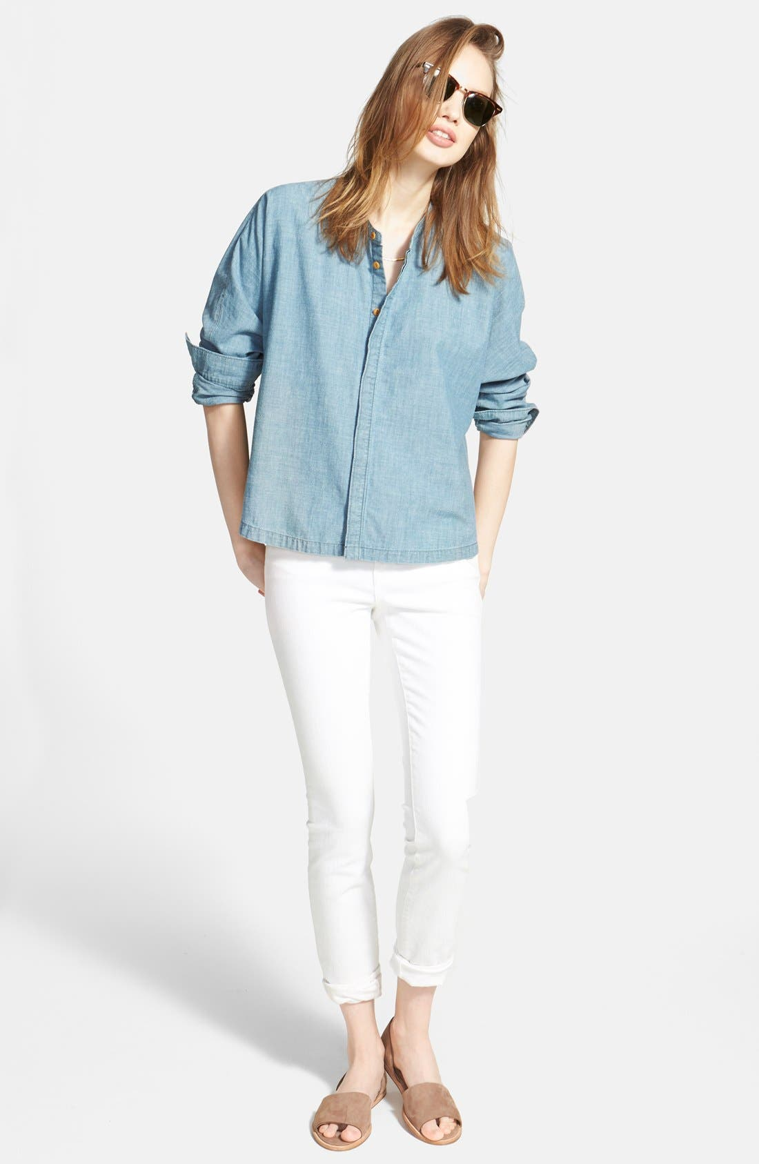 MADEWELL,                             9-Inch High-Rise Skinny Jeans,                             Alternate thumbnail 6, color,                             100
