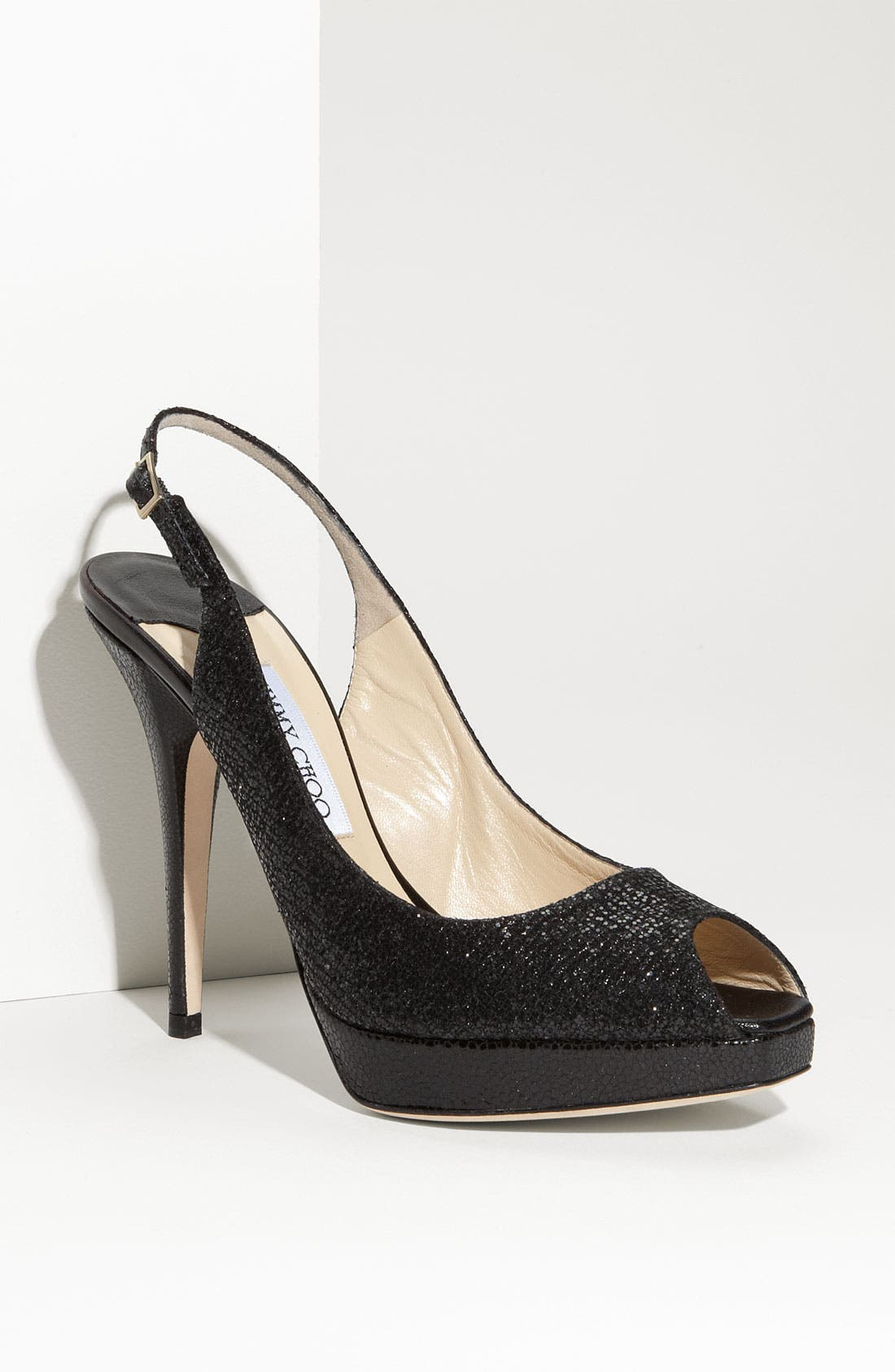 'Clue' Glitter Slingback Pump,                             Main thumbnail 1, color,                             001