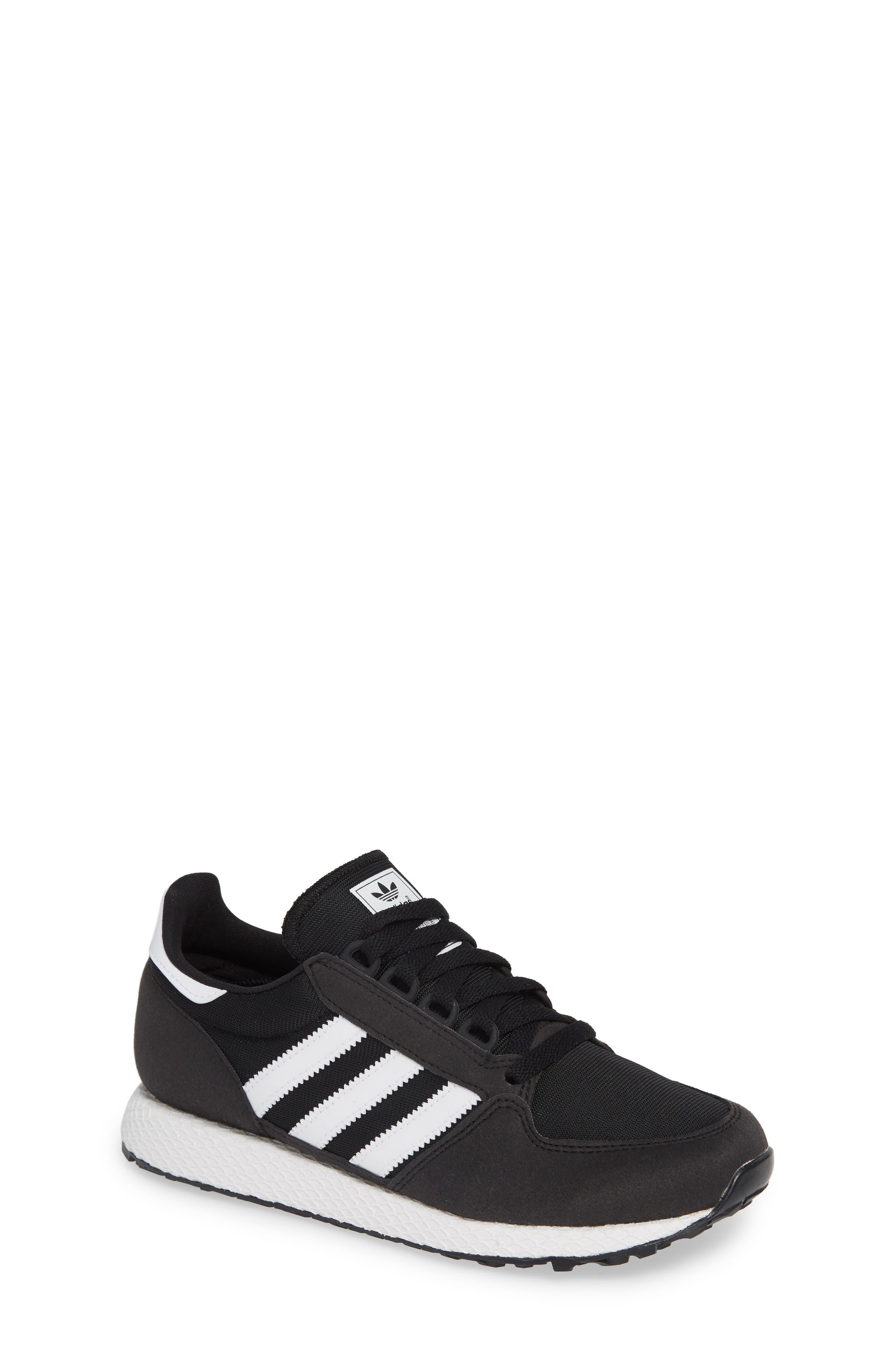 Forest Grove Sneaker,                         Main,                         color, BLACK/ WHITE/ BLACK