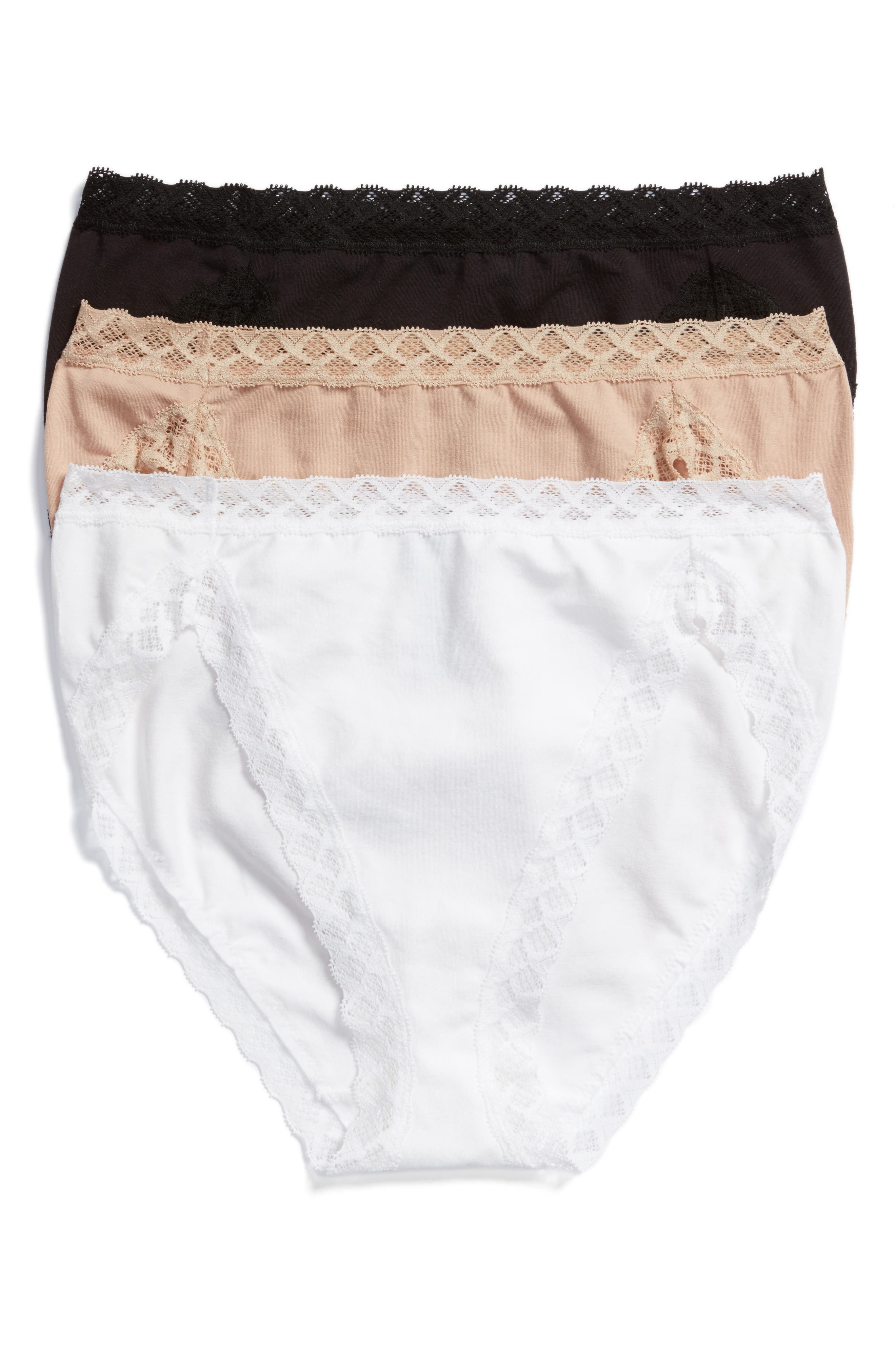 'Bliss' French Cut Briefs,                         Main,                         color, BLACK/ CAFE