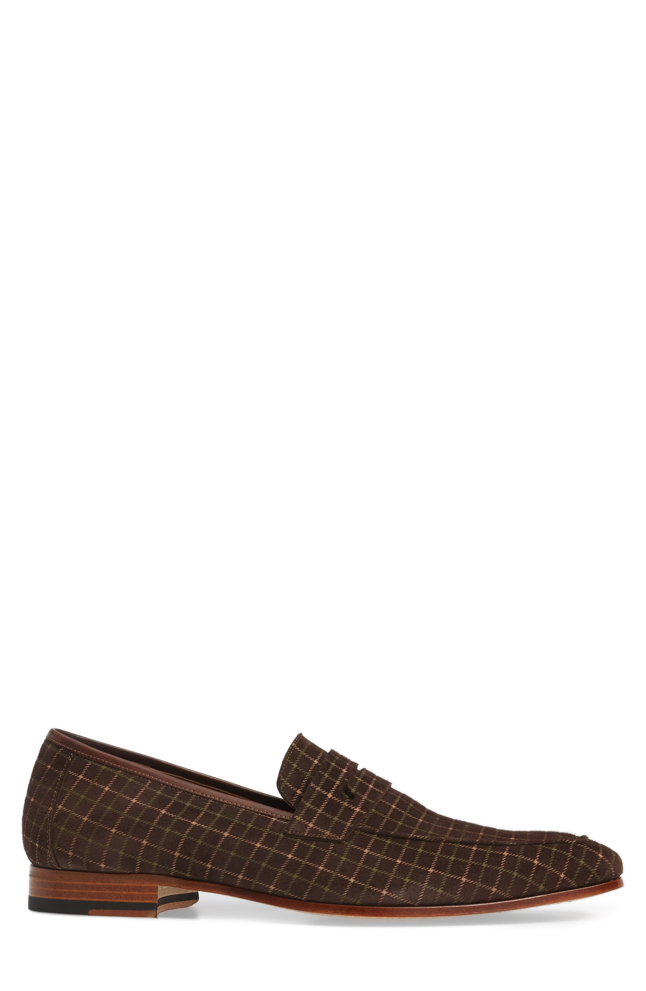 Galen Tattersall Penny Loafer,                             Alternate thumbnail 3, color,                             BROWN SUEDE
