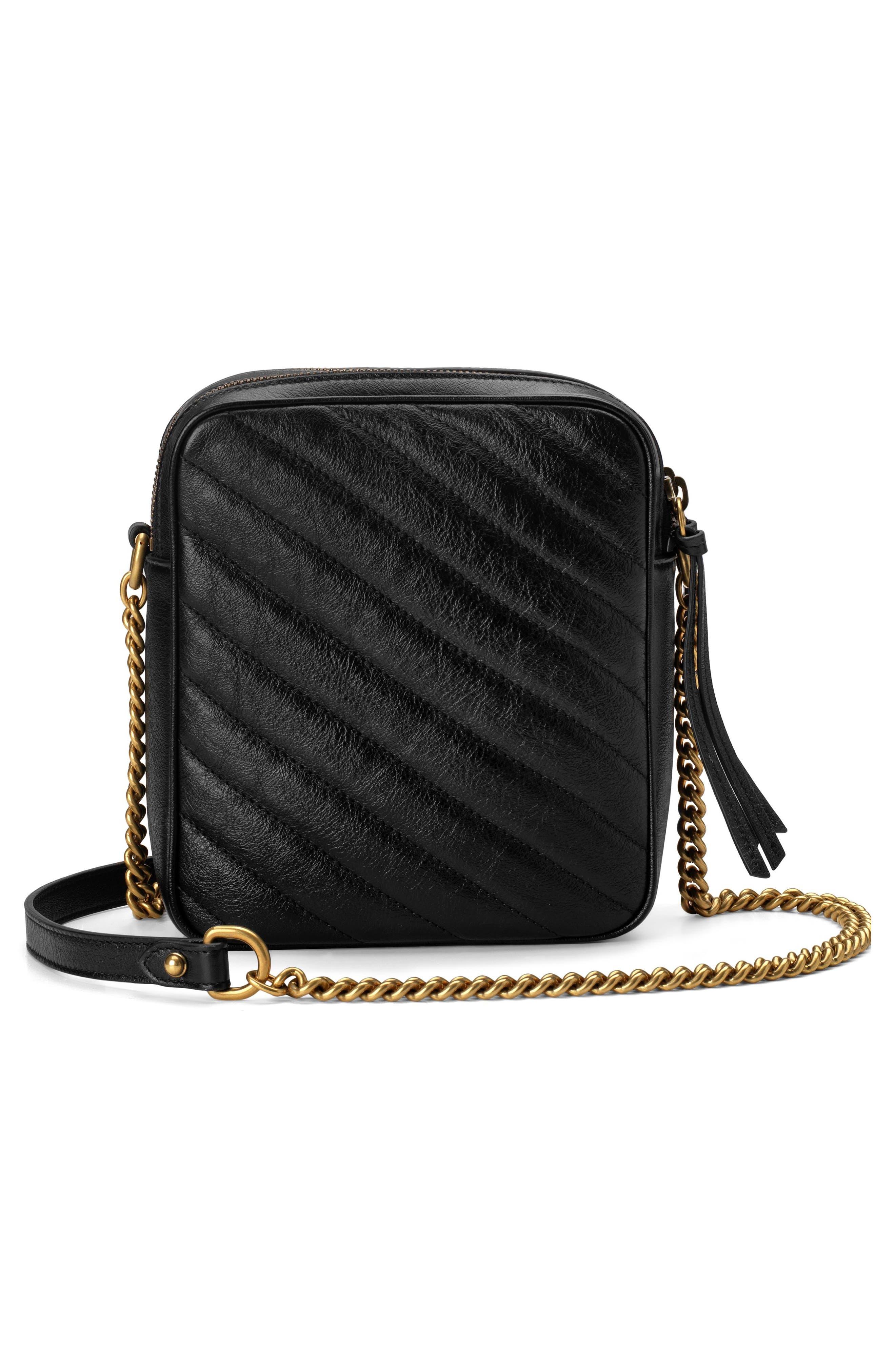 Mini Marmont 2.0 Leather Crossbody Bag,                             Alternate thumbnail 2, color,                             NERO