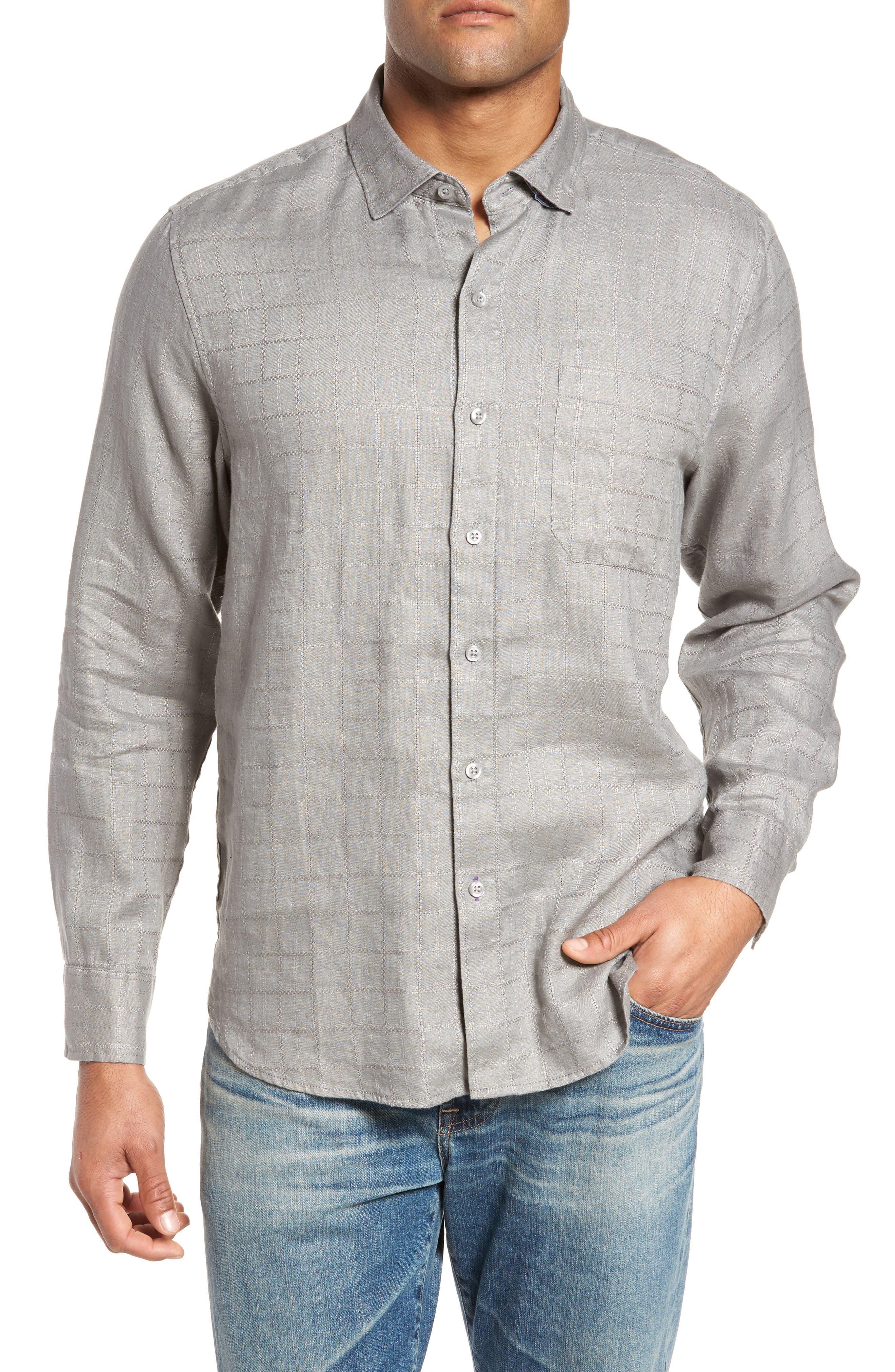 Costa Cera Linen Sport Shirt,                         Main,                         color, 050