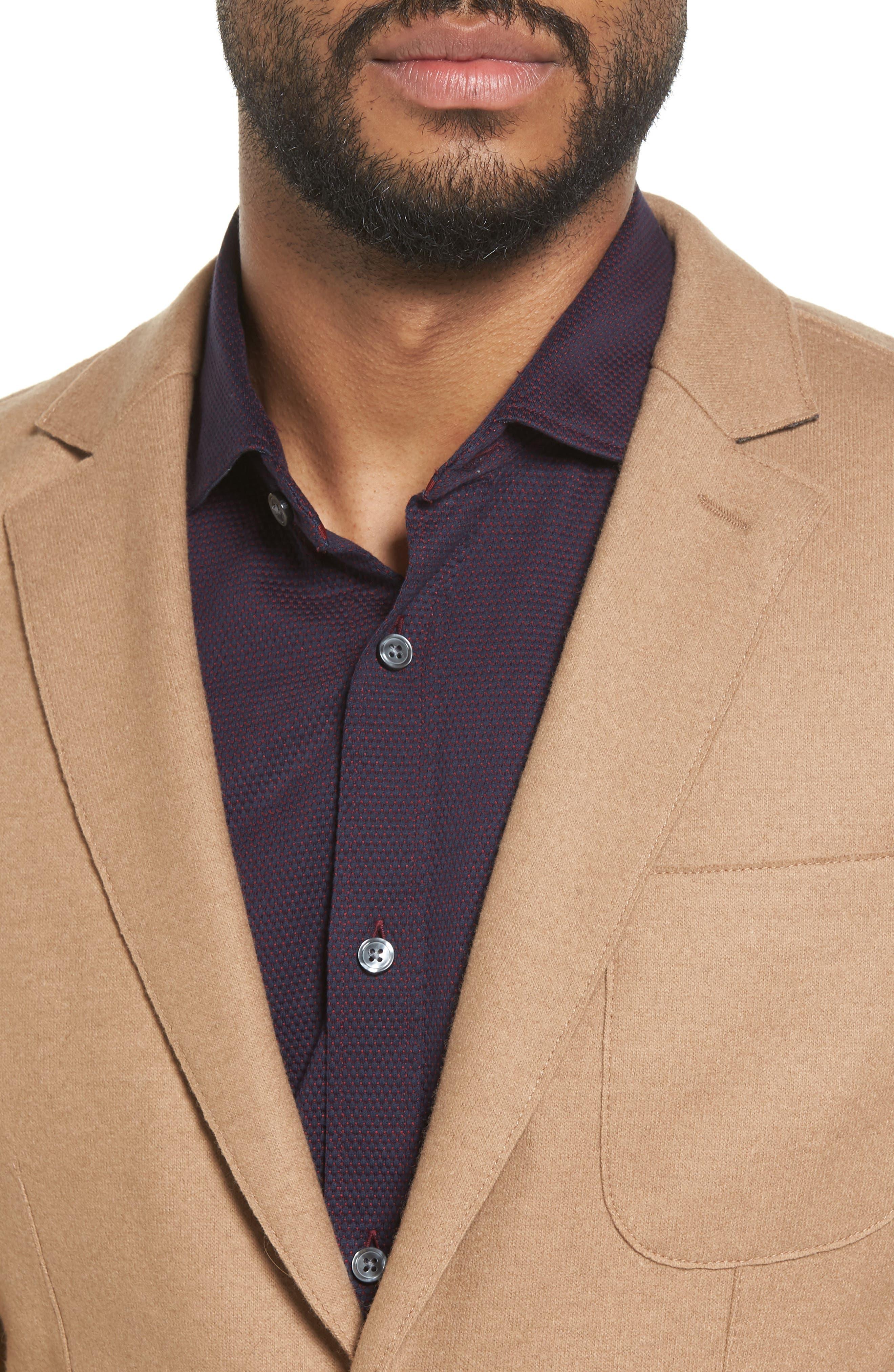 Nordin Trim Fit Virgin Wool Sport Coat,                             Alternate thumbnail 4, color,                             262