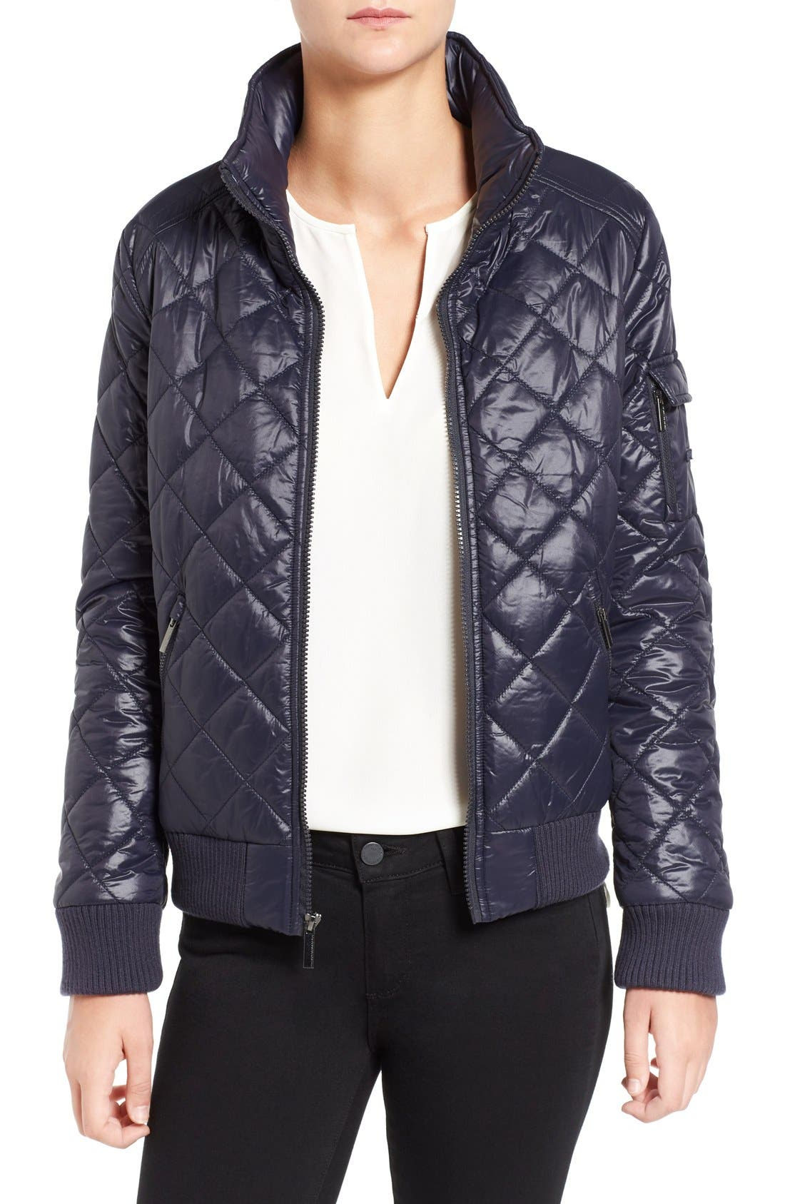 Quilted Bomber Jacket,                             Main thumbnail 5, color,