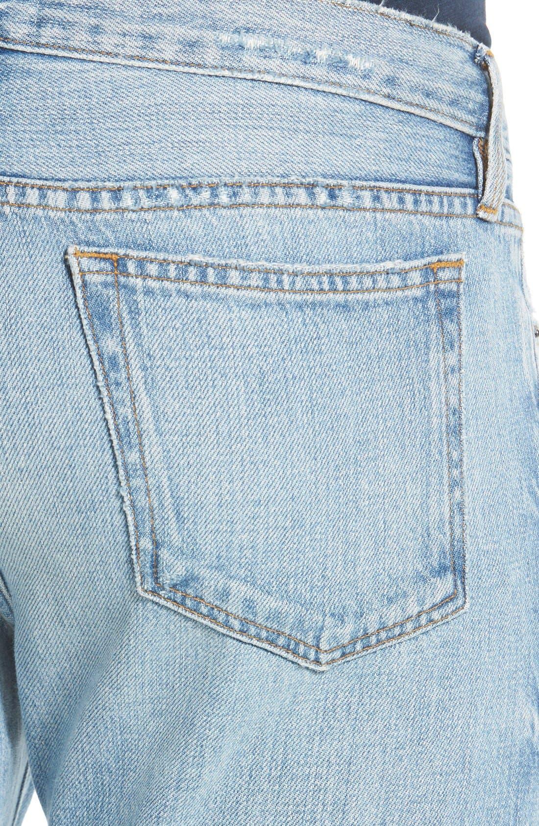 'L'Homme' Slim Fit Jeans,                             Alternate thumbnail 4, color,