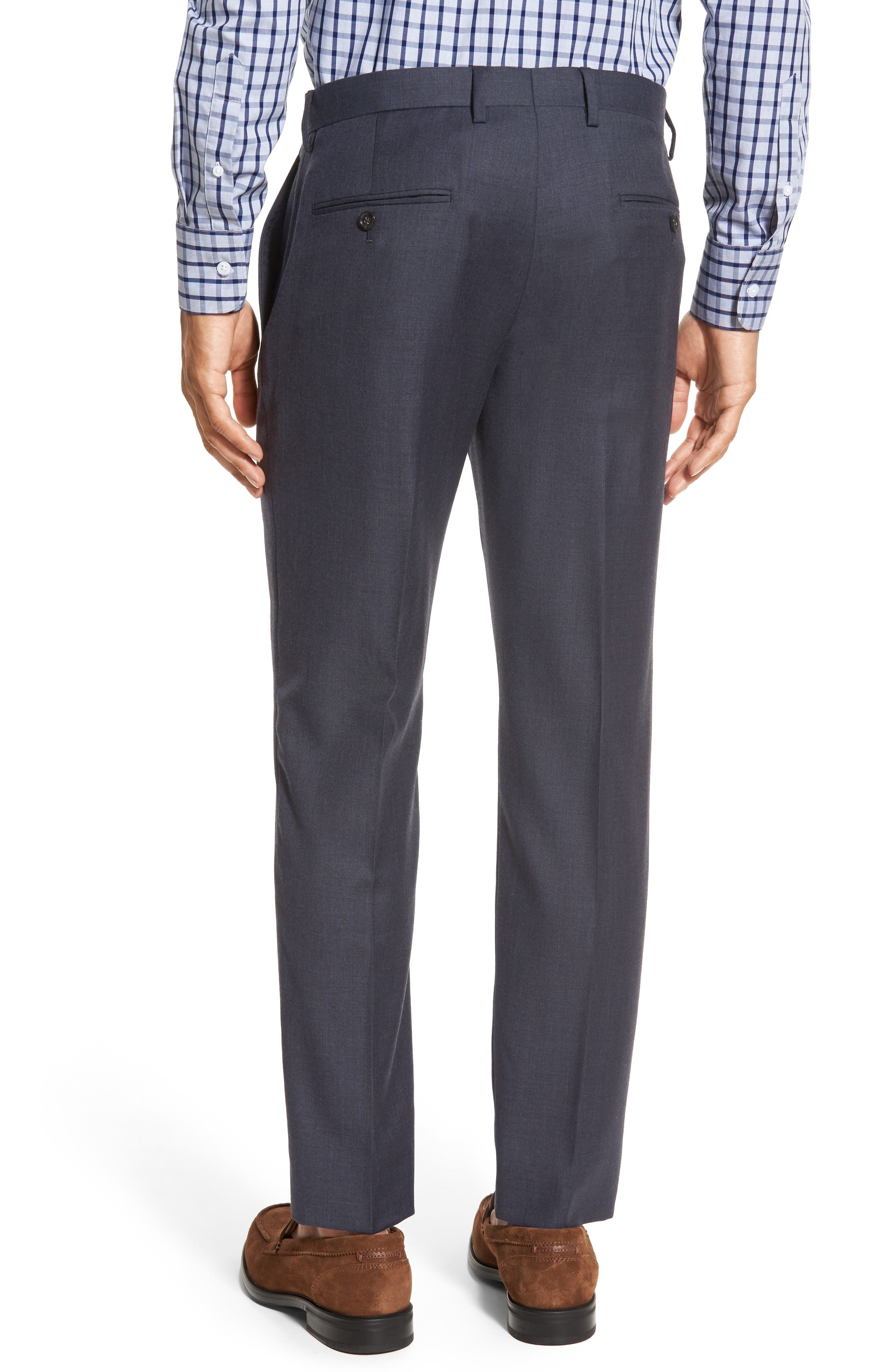 Ludlow Flat Front Solid Wool Trousers,                             Alternate thumbnail 6, color,