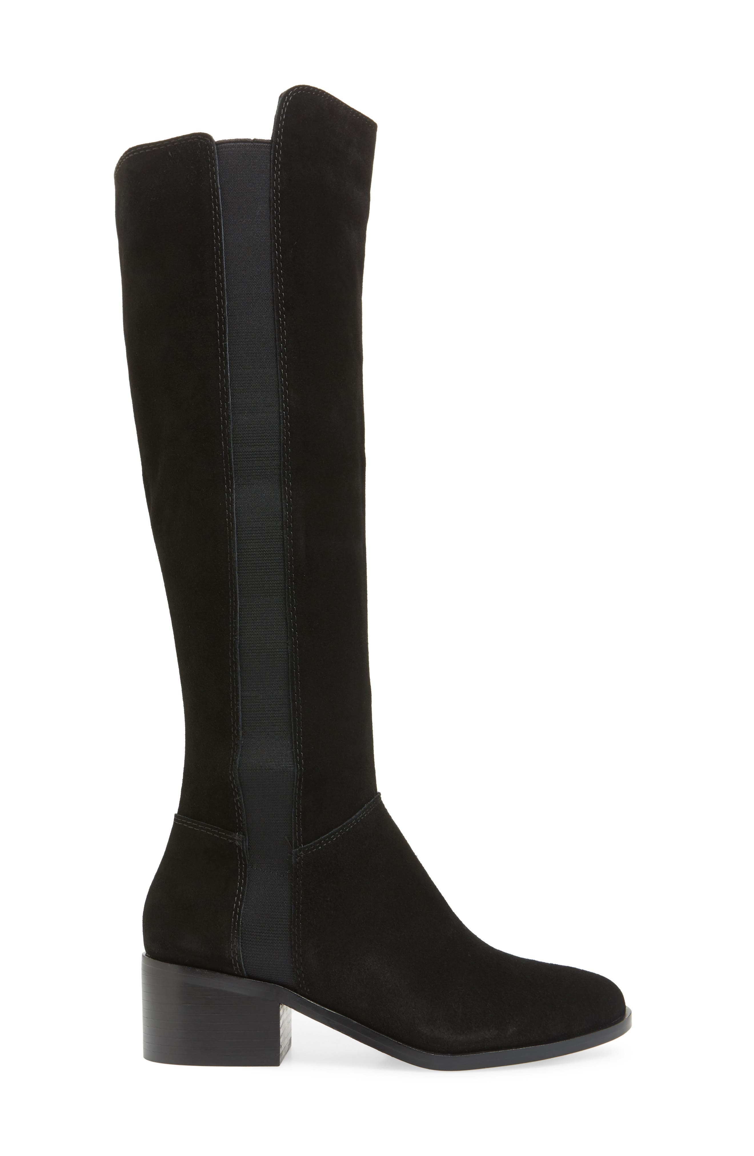 Giselle Over the Knee Boot,                             Alternate thumbnail 3, color,                             BLACK SUEDE