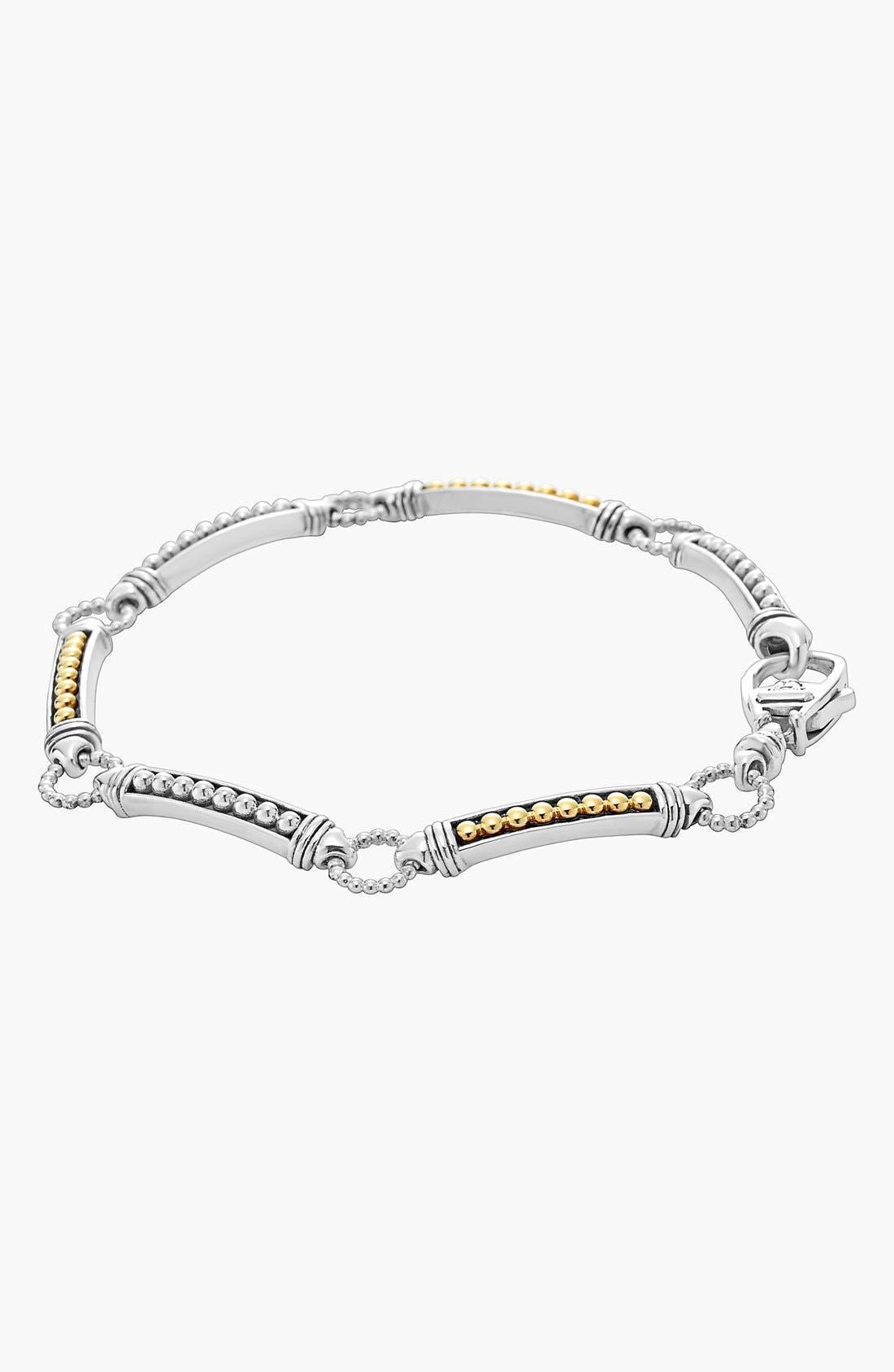 Caviar 'Superfine' Two-Tone Line Bracelet,                             Alternate thumbnail 4, color,                             040