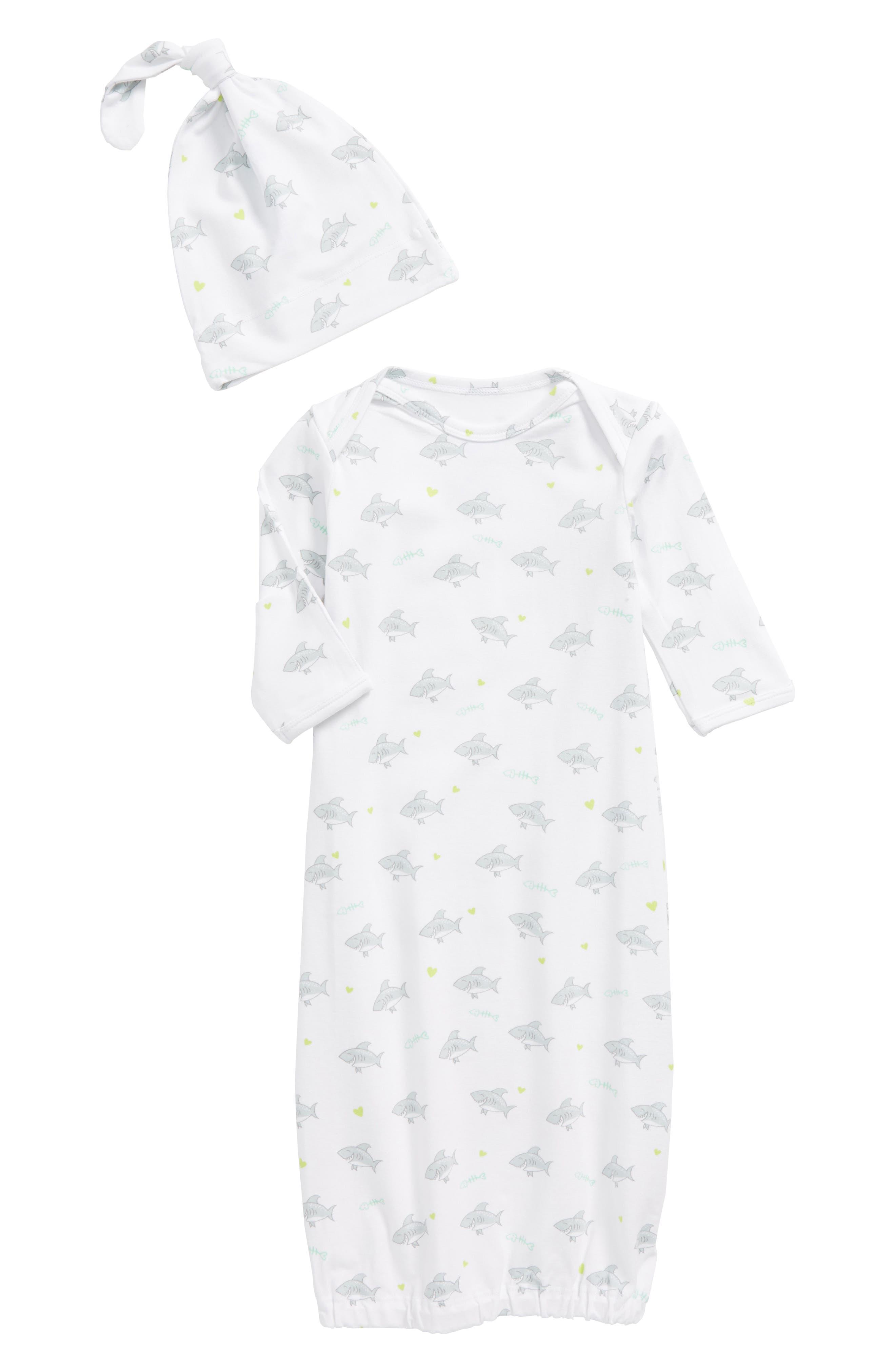 Shark Gown & Hat Set,                         Main,                         color, 020