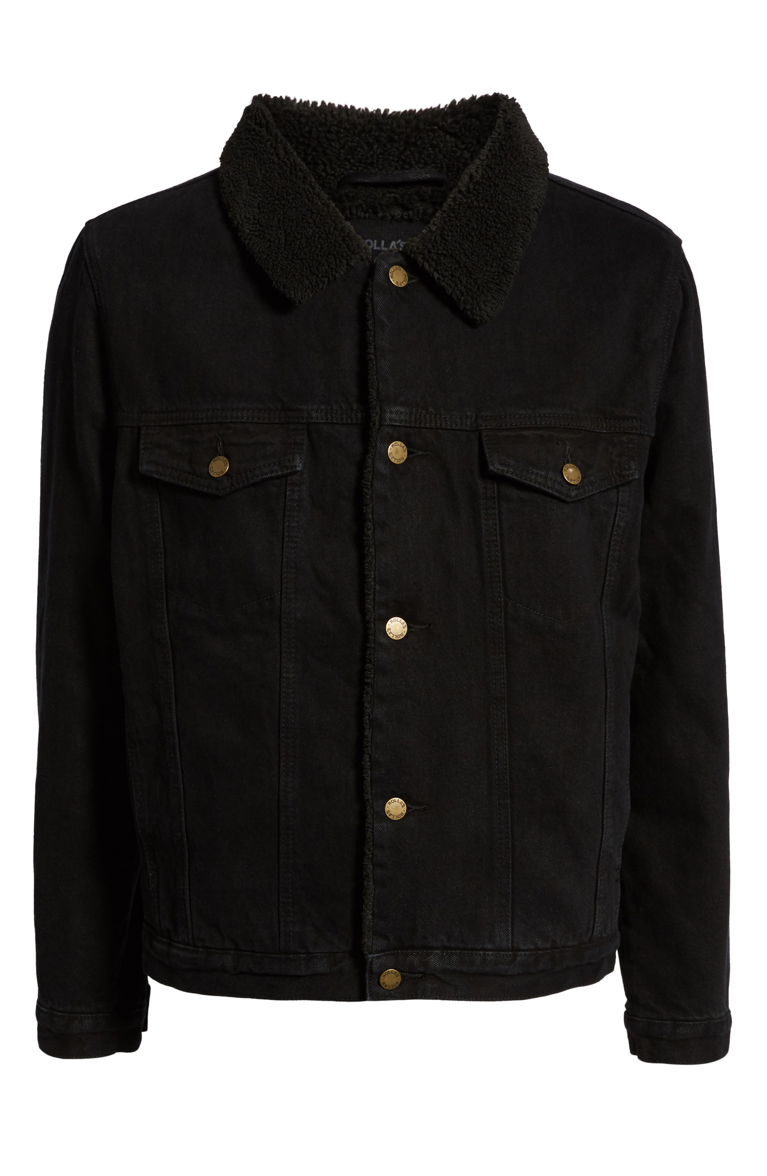 ROLLA'S,                             Lined Denim Jacket,                             Alternate thumbnail 6, color,                             002