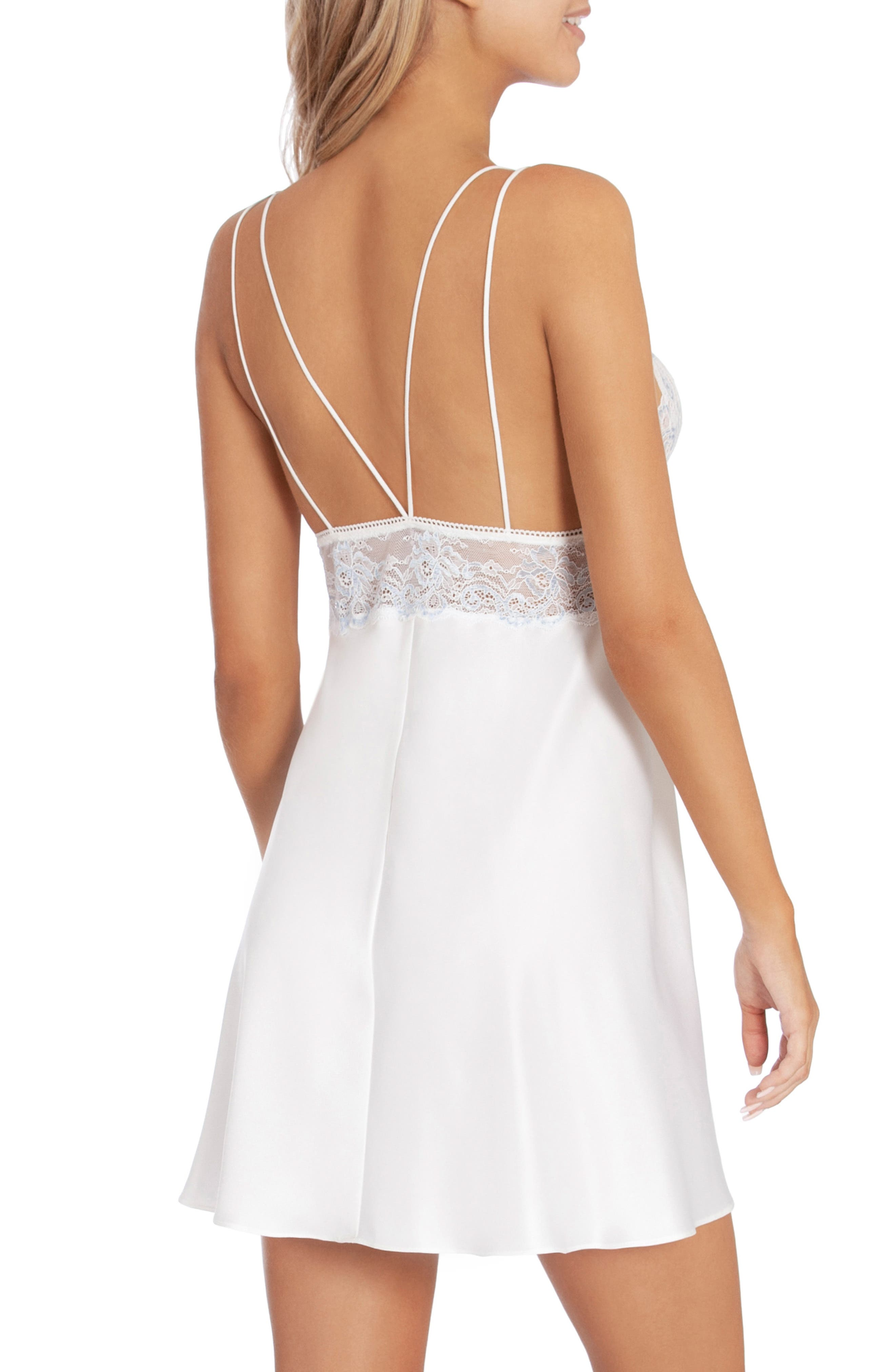 IN BLOOM BY JONQUIL,                             Lace & Satin Chemise,                             Alternate thumbnail 2, color,                             OFF-WHITE
