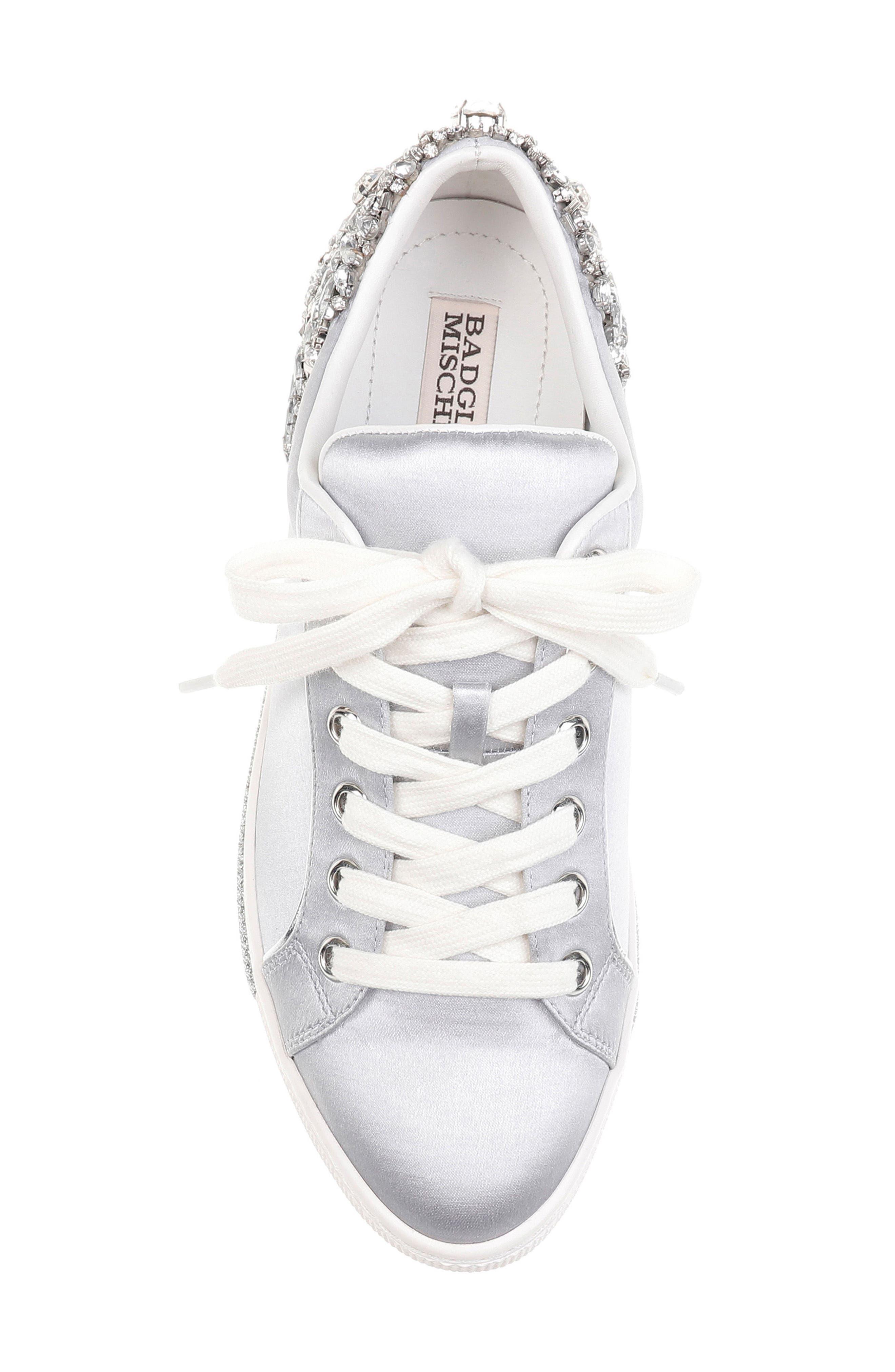Badgley Mischka Shirley Crystal Embellished Sneaker,                             Alternate thumbnail 5, color,                             045