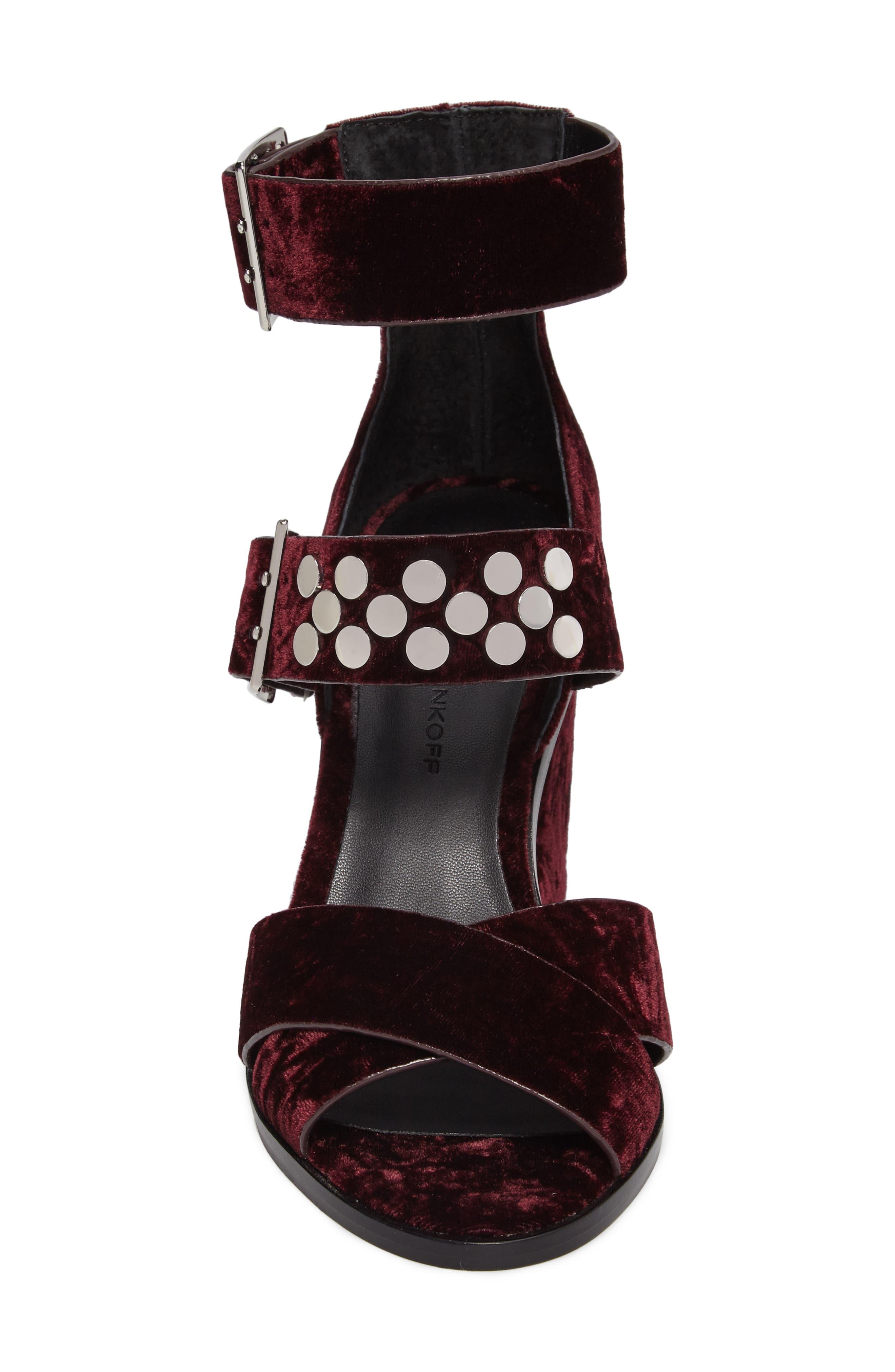 Jennifer Studded Ankle Cuff Sandal,                             Alternate thumbnail 12, color,