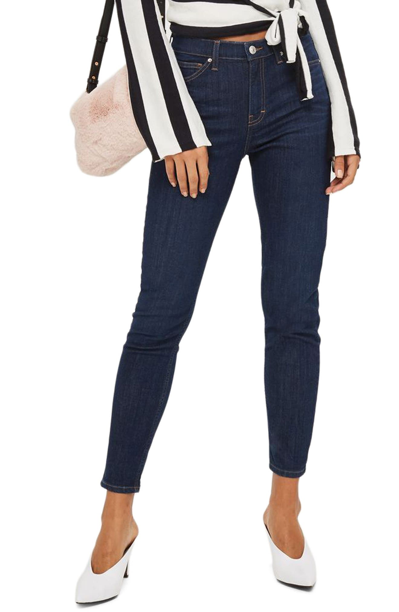 Jamie High Waist Ankle Skinny Jeans,                         Main,                         color, 410
