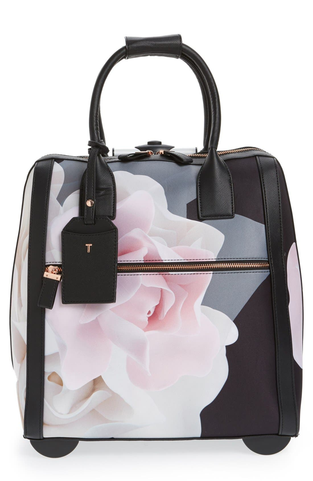 TED BAKER LONDON 'Porcelain Rose - Odina' Travel Bag, Main, color, 001