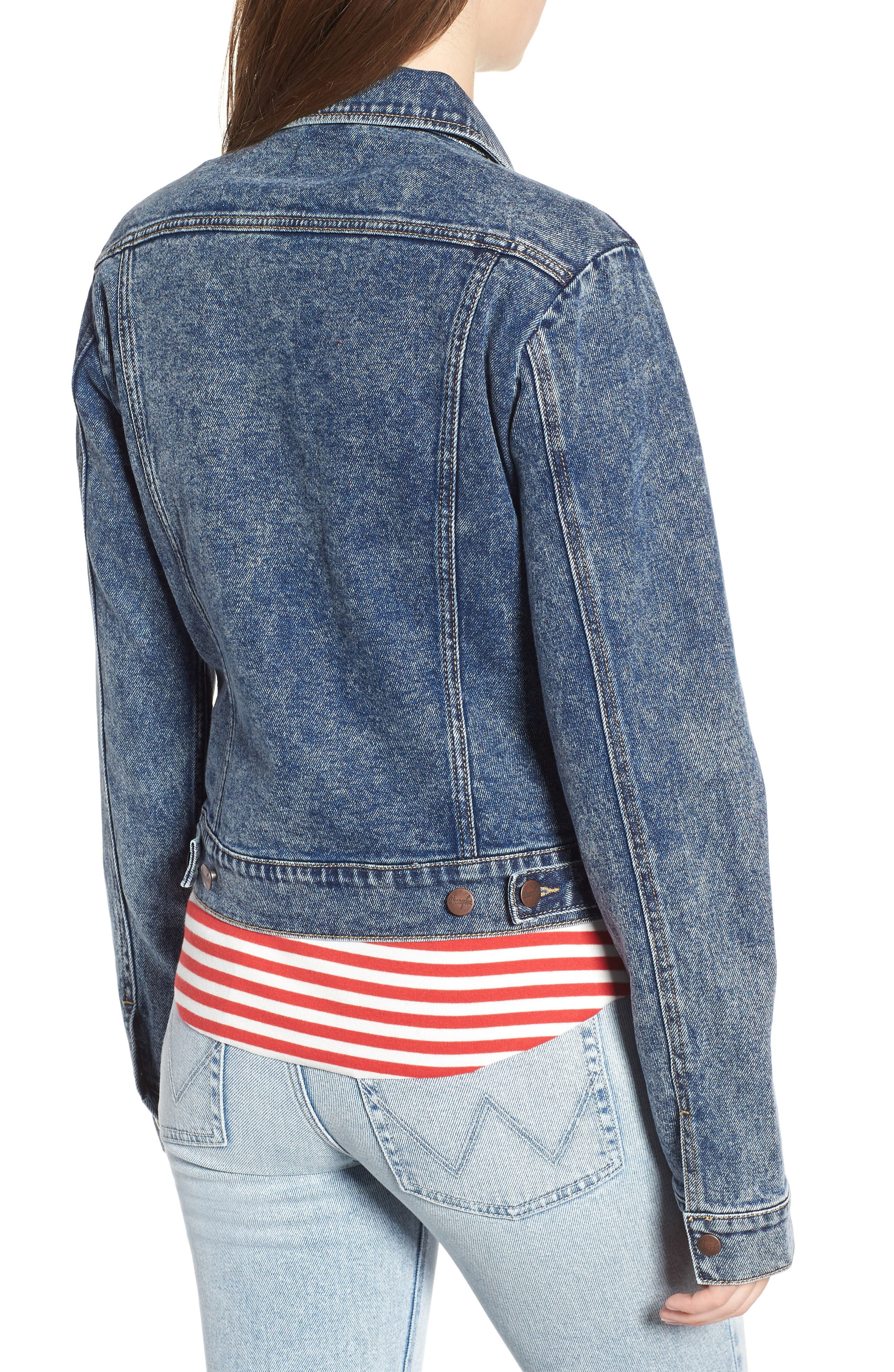 Denim Jacket,                             Alternate thumbnail 2, color,                             401