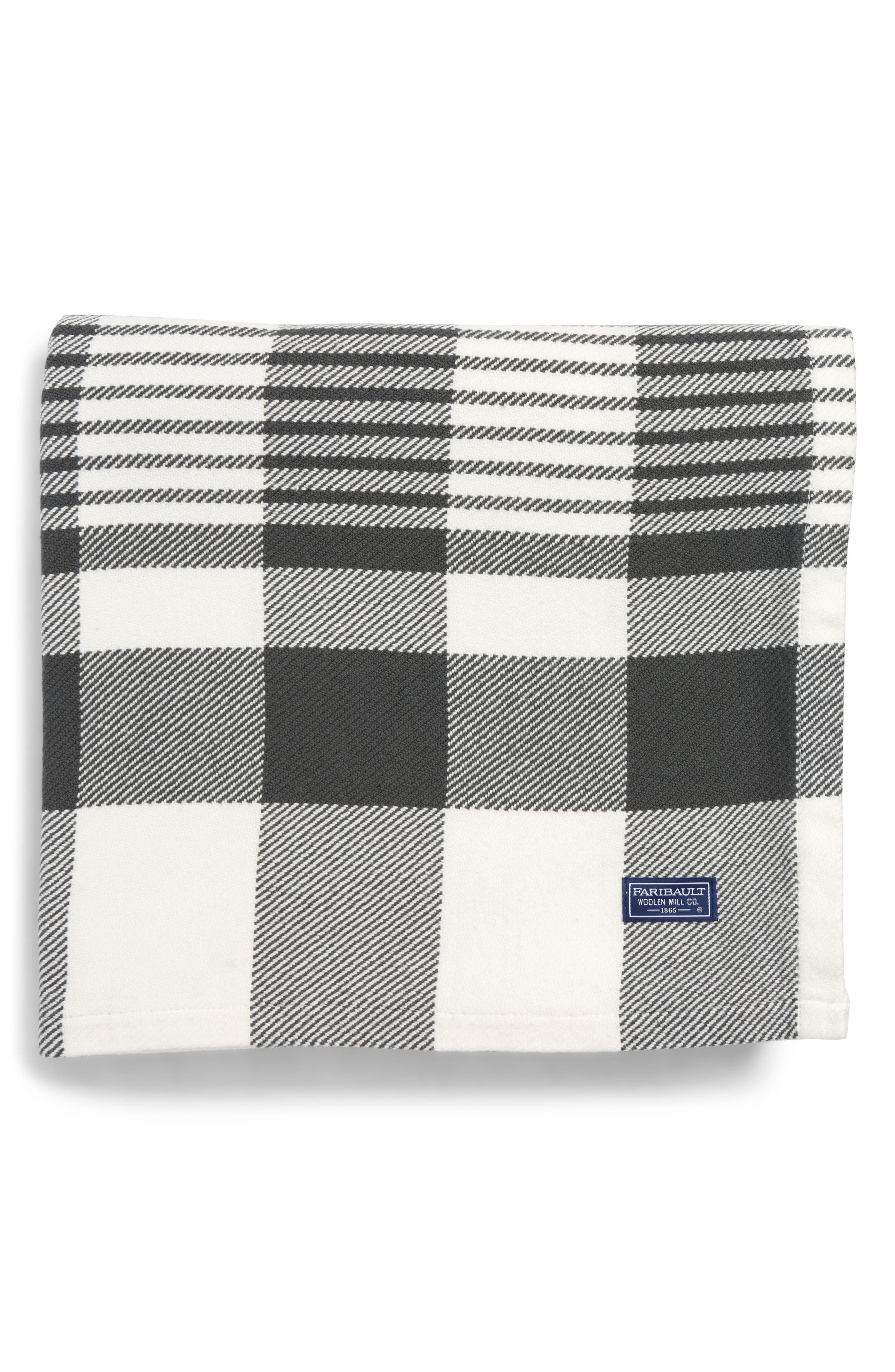 Plaid Throw Blanket,                             Main thumbnail 1, color,                             020