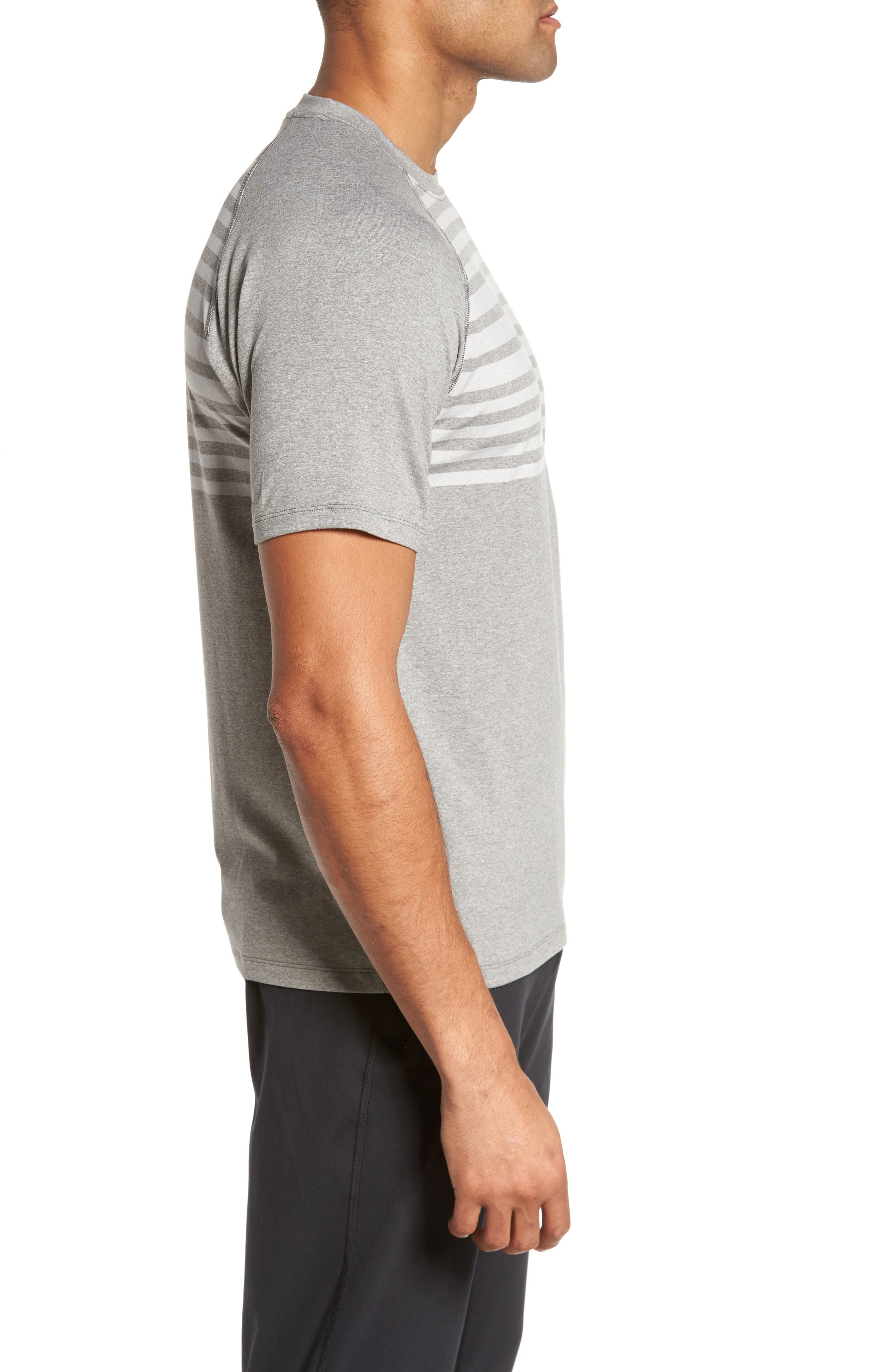 Rio Stripe Technical T-Shirt,                             Alternate thumbnail 3, color,                             025