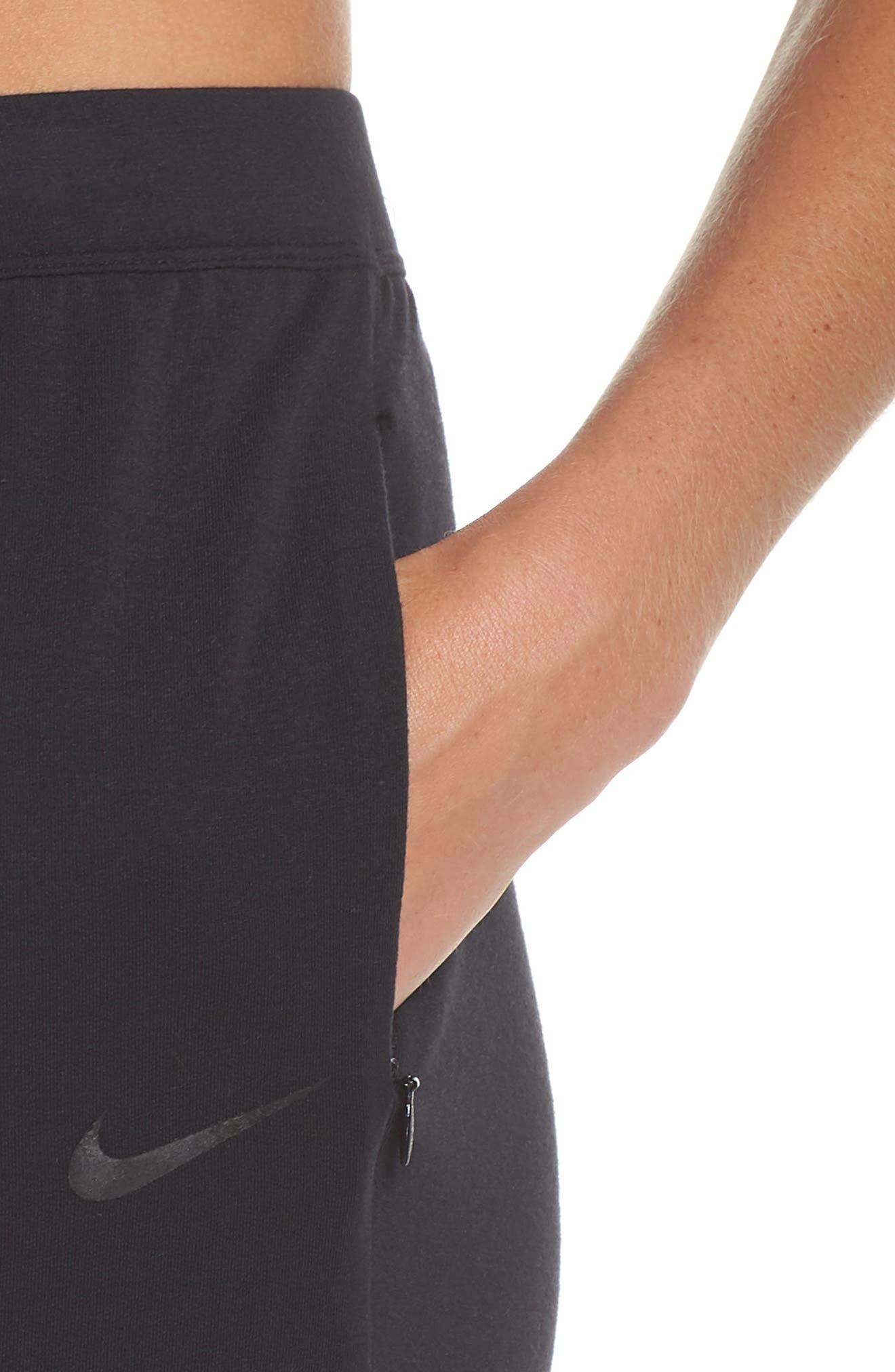 NIKE,                             Dry Studio Training Pants,                             Alternate thumbnail 4, color,                             BLACK/ BLACK