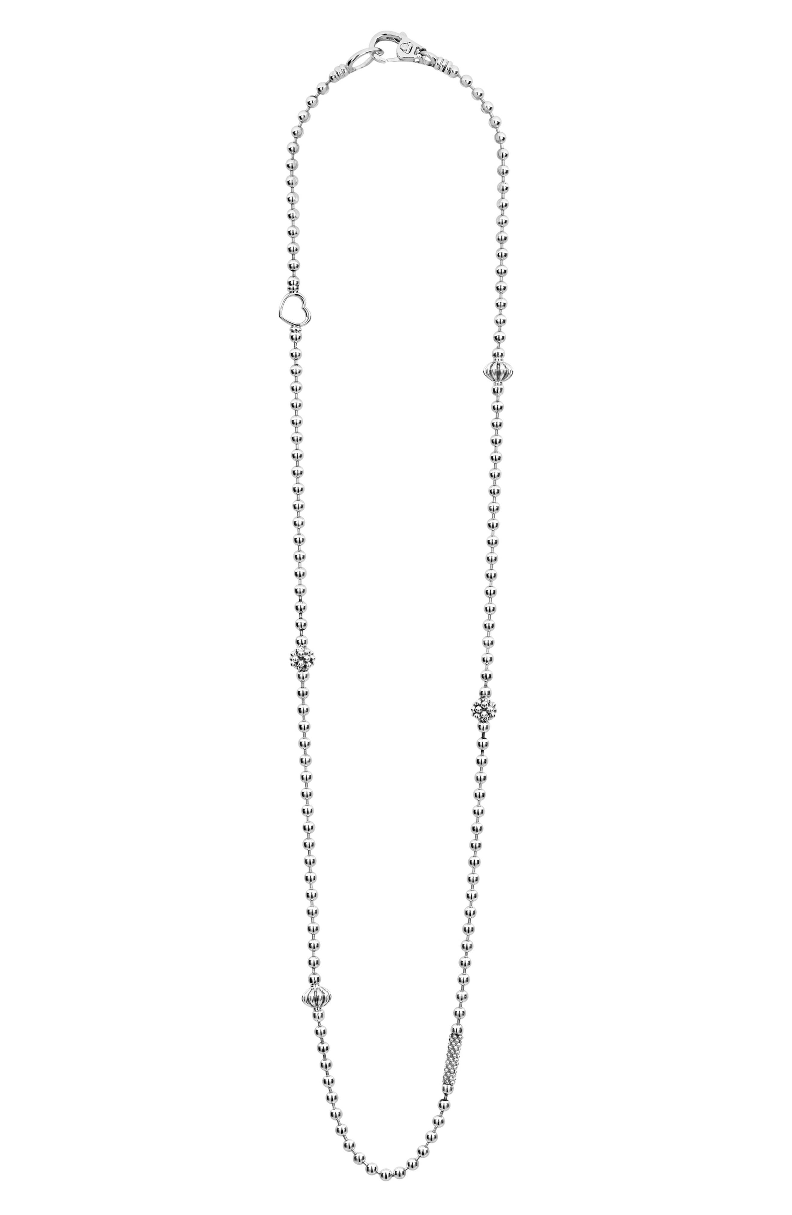 Caviar Icon Elements Necklace,                         Main,                         color, SILVER