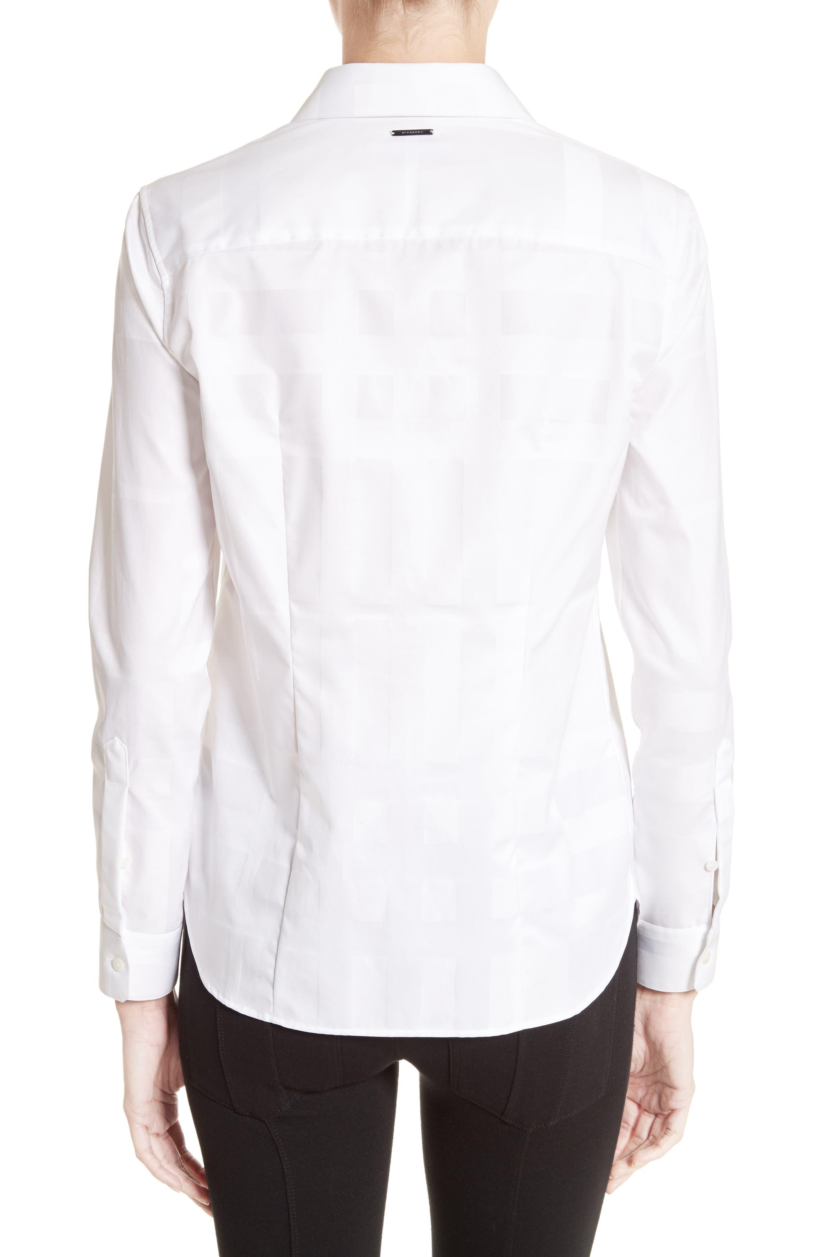 Aster Check Cotton Shirt,                             Alternate thumbnail 2, color,                             100