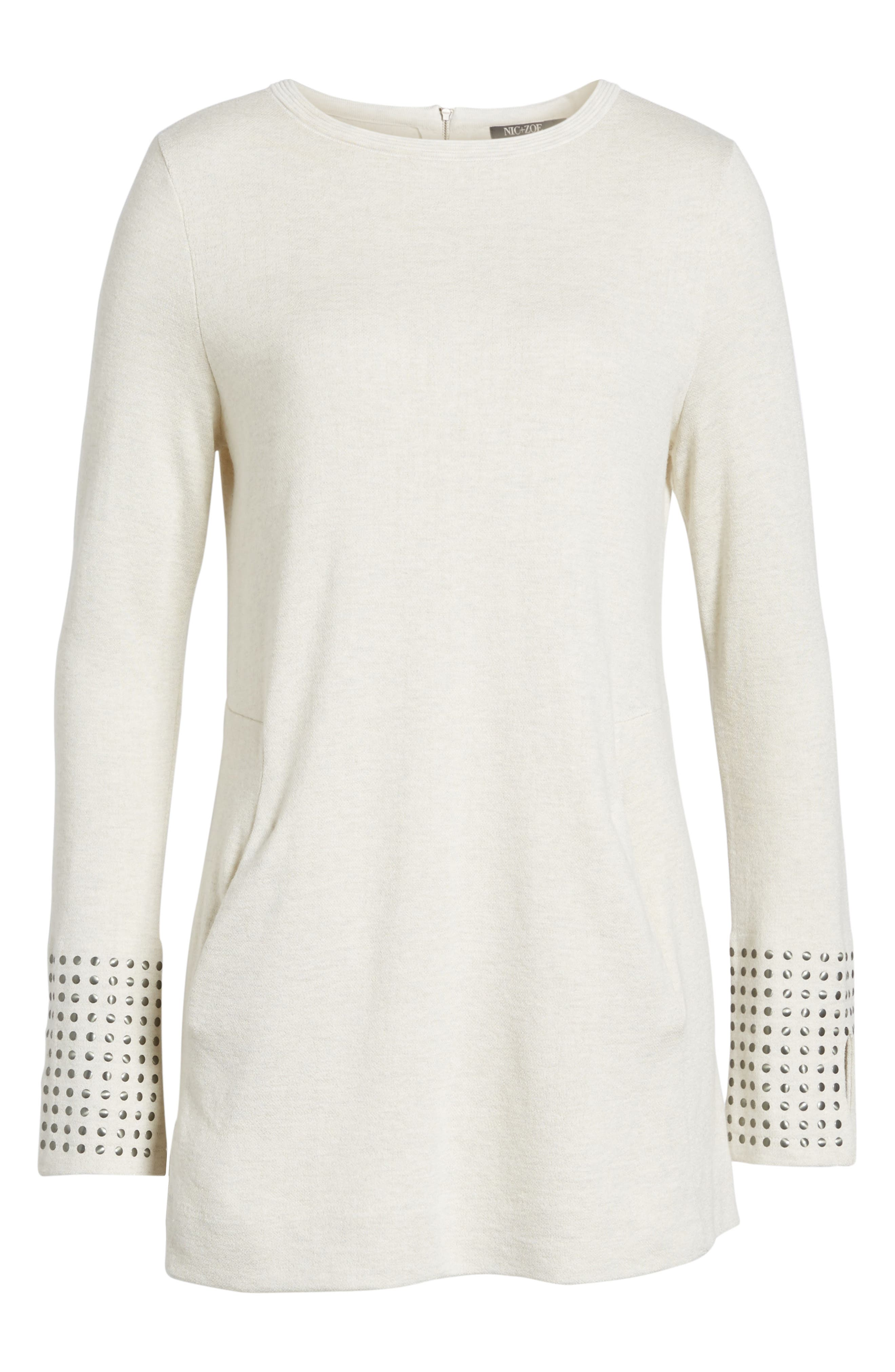 Stud Cuff Top,                             Alternate thumbnail 6, color,                             004