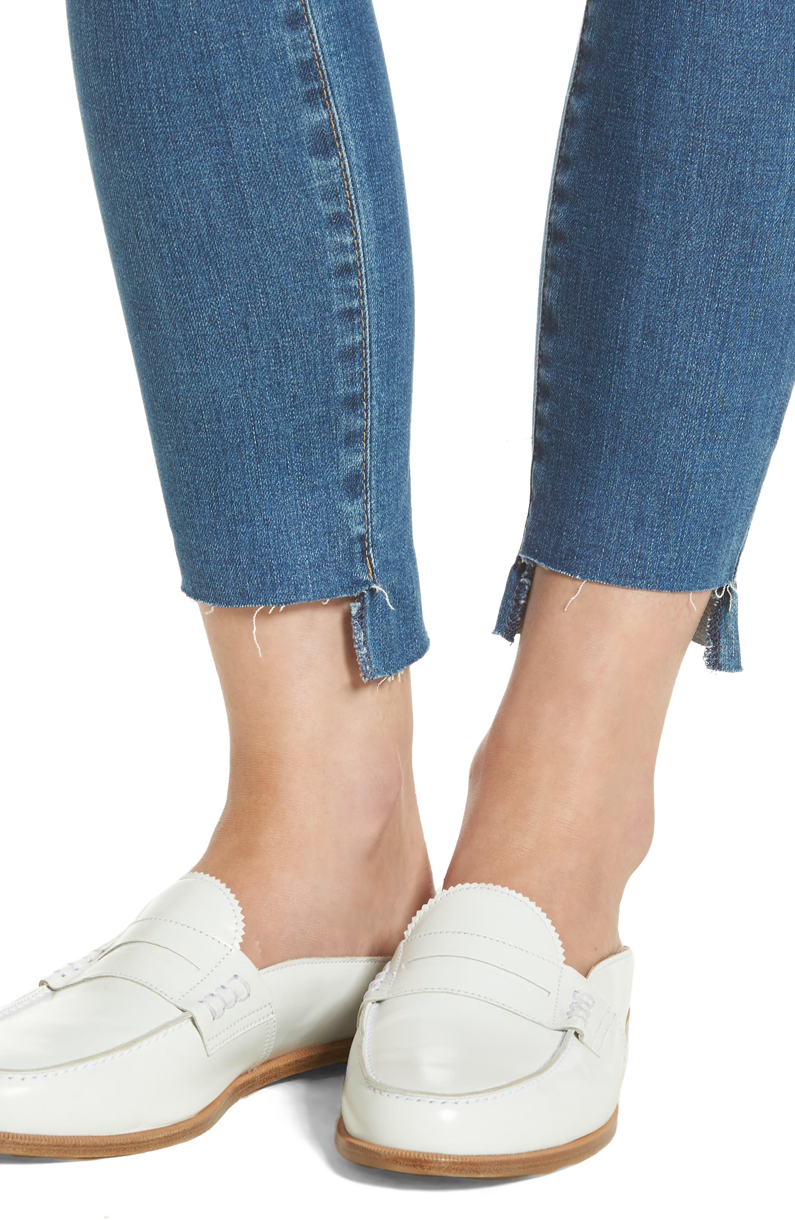 The Legging Step Hem Ankle Skinny Jeans,                             Alternate thumbnail 4, color,                             424