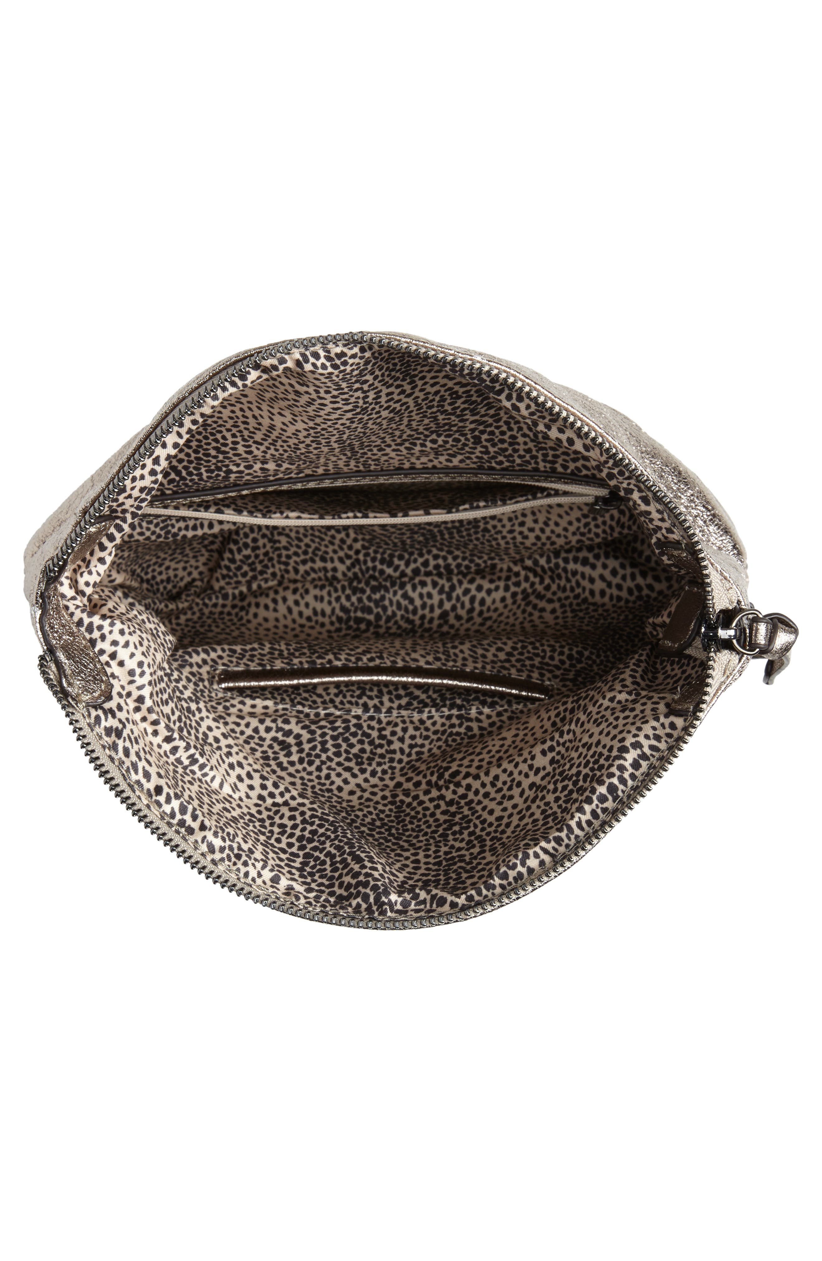 Missa Metallic Clutch,                             Alternate thumbnail 5, color,                             PEWTER