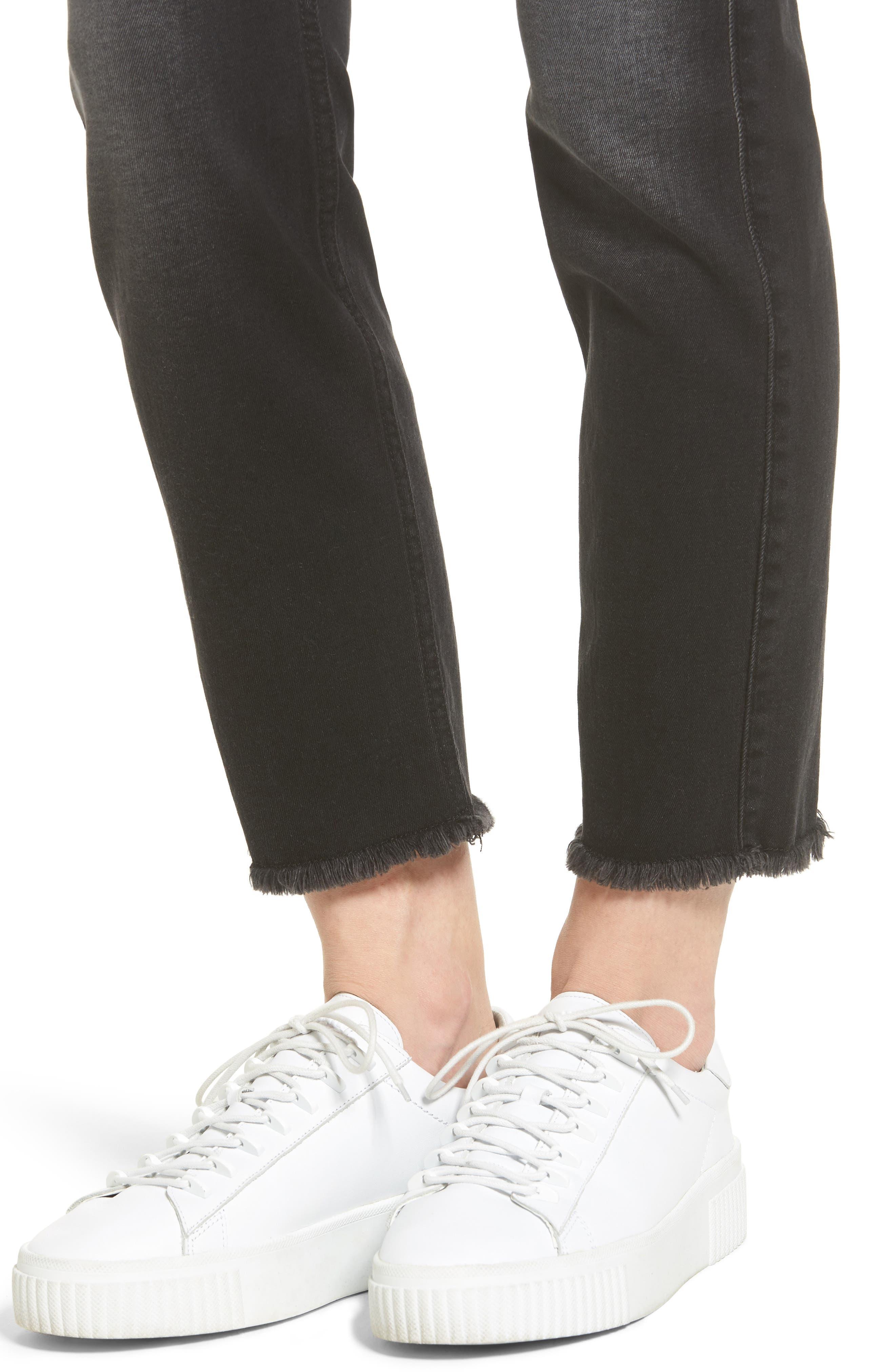 Seven7 Roxanne Raw Hem Ankle Jeans,                             Alternate thumbnail 4, color,                             004