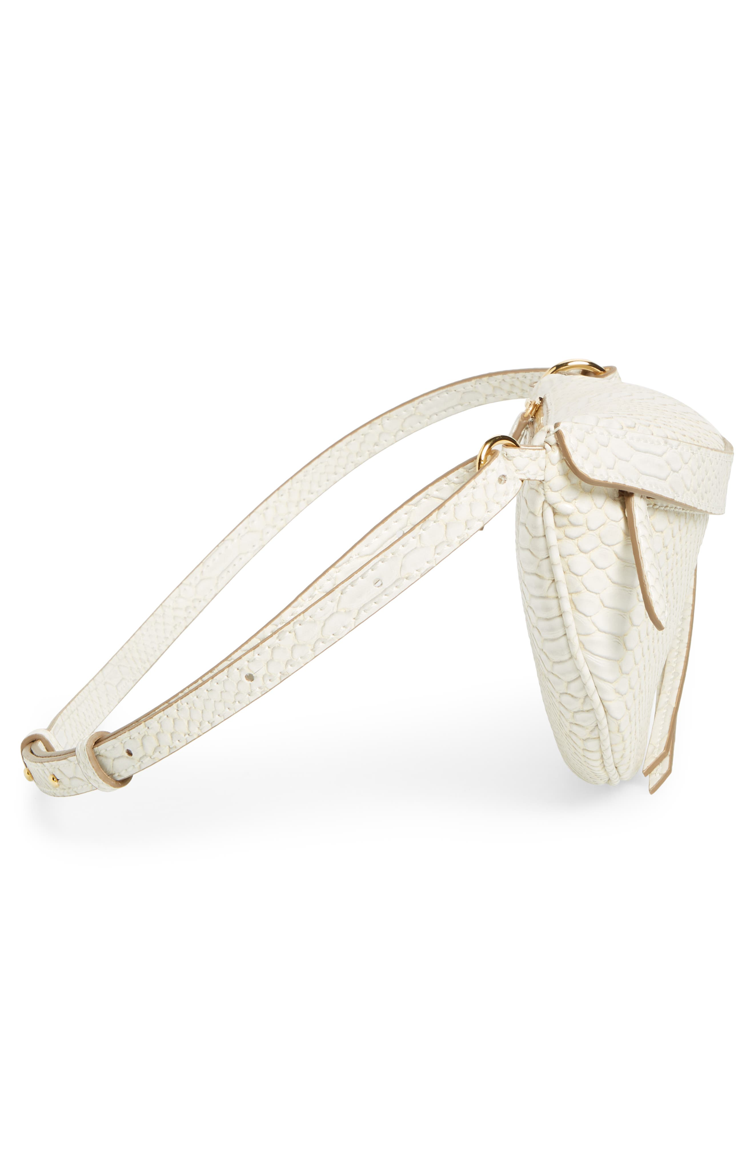 Alter Snake Faux Leather Fanny Pack,                             Alternate thumbnail 6, color,                             IVORY
