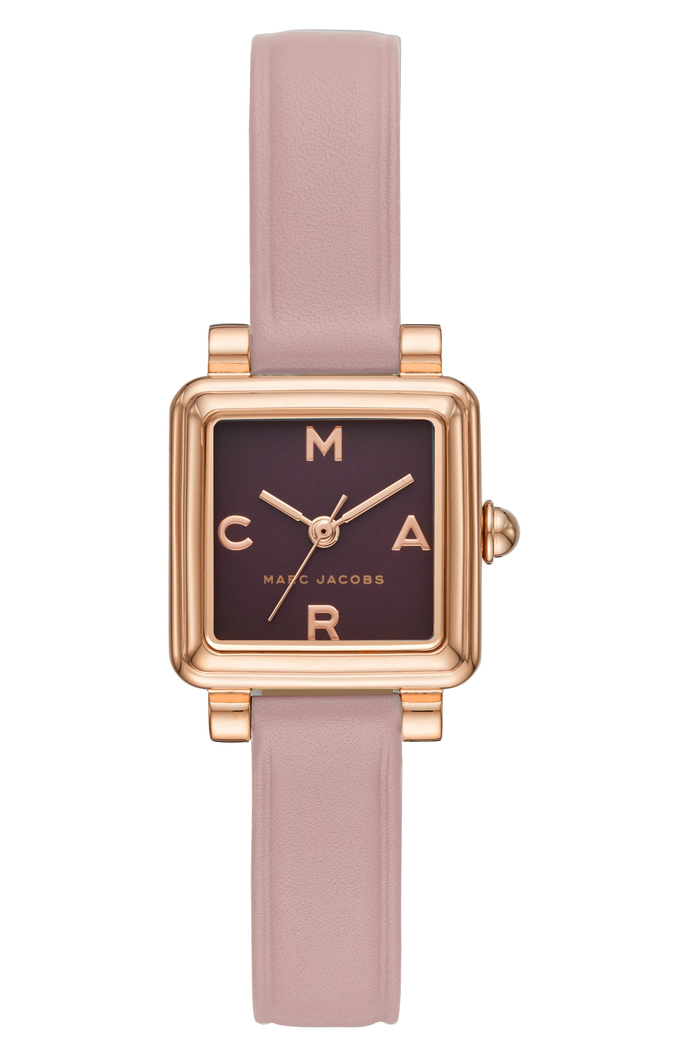 Vic Leather Strap Watch, 20mm,                             Main thumbnail 1, color,                             PINK/ BURGUNDY/ ROSE GOLD